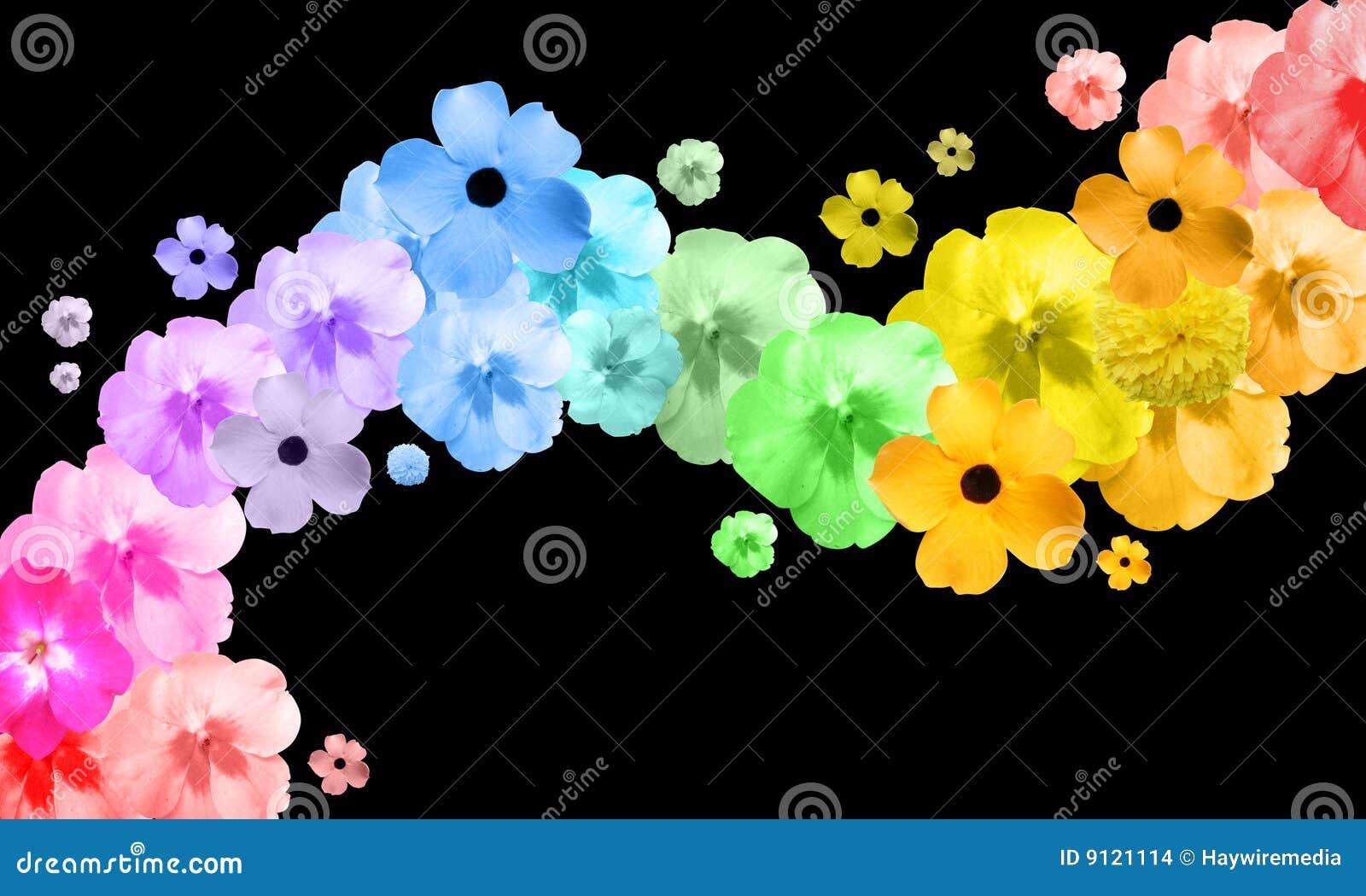 Волна из цветов
