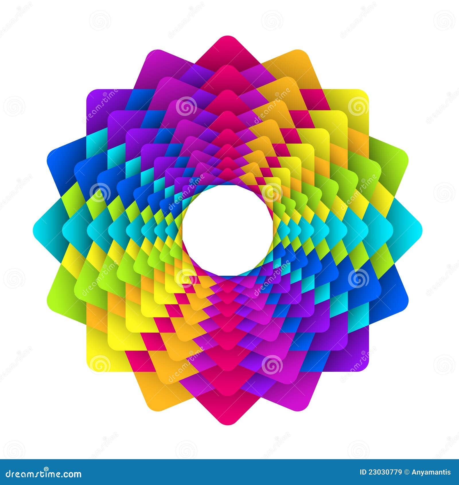 Rainbow Flower Logo Royalty Free Stock Images