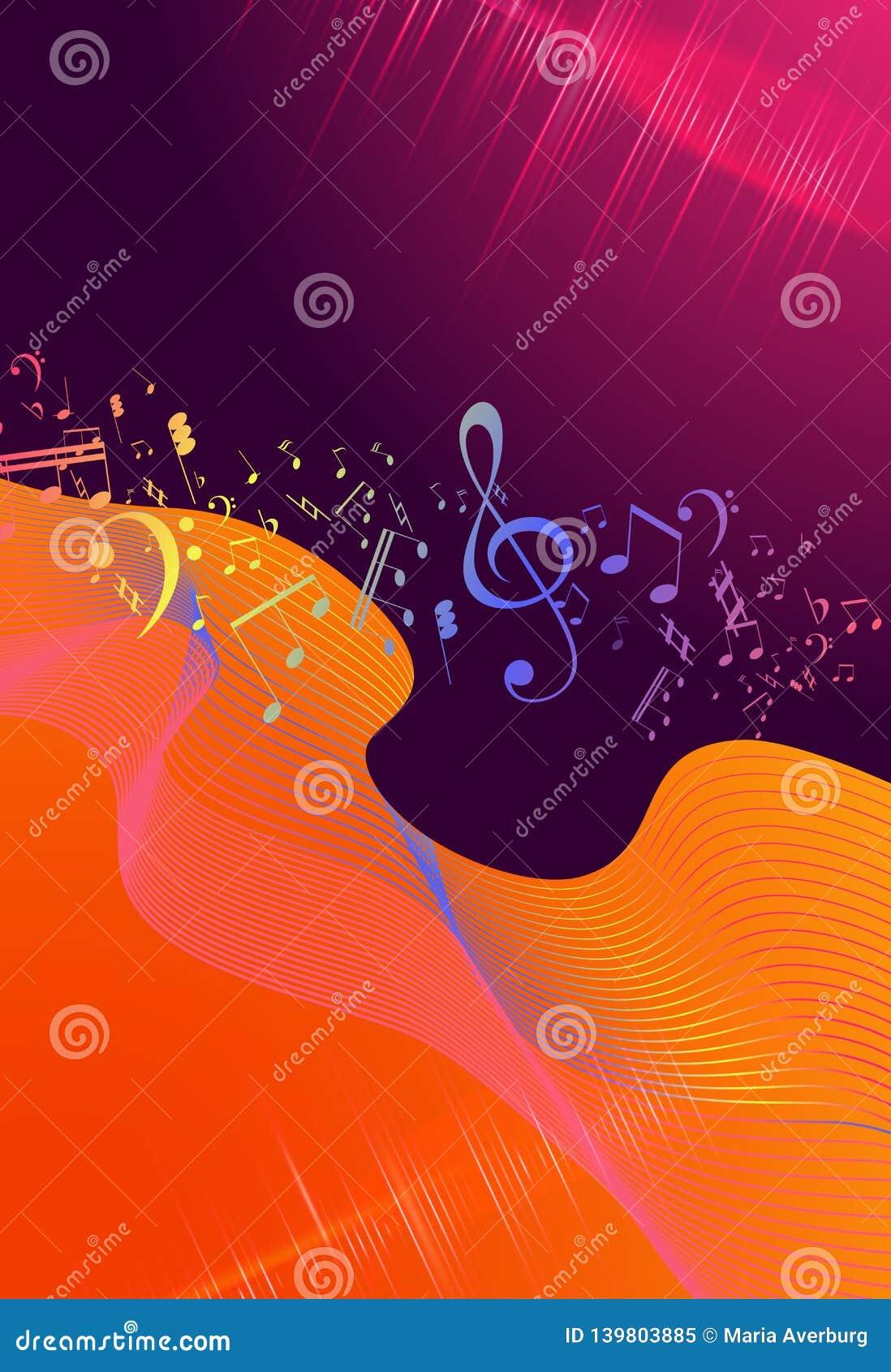 Rainbow Fluid Background  Iridescent Modern Design  Music