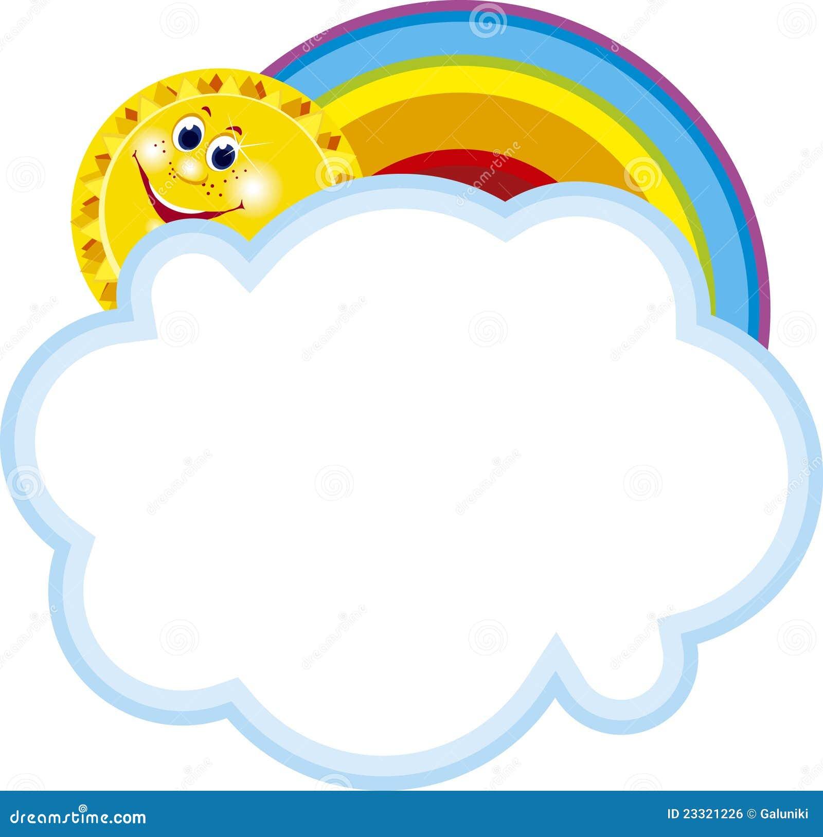 0c55093f819e Rainbow frame stock vector. Illustration of cloud