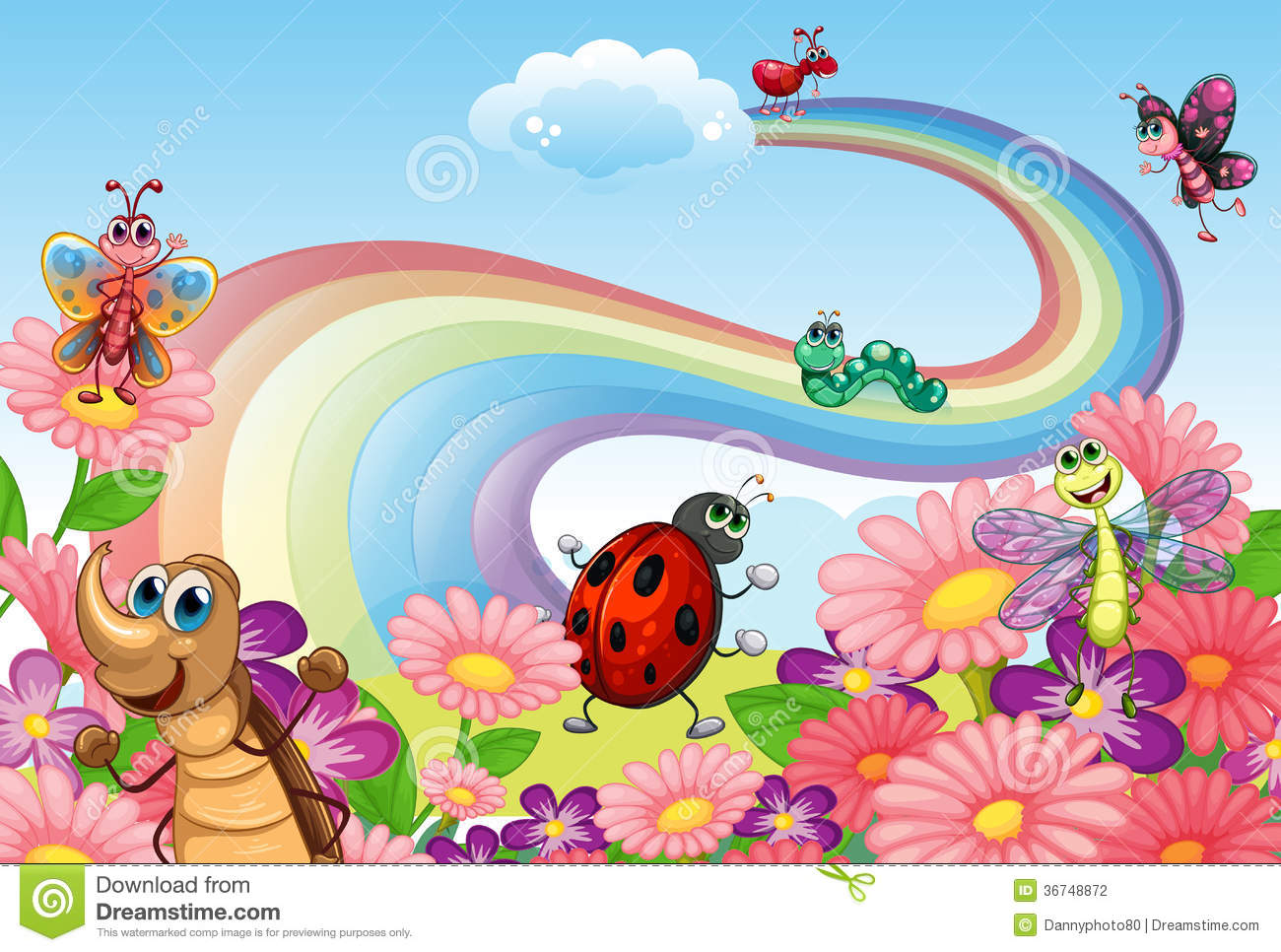 a rainbow at the garden with insects stock photography cockroach clipart png cockroach climate