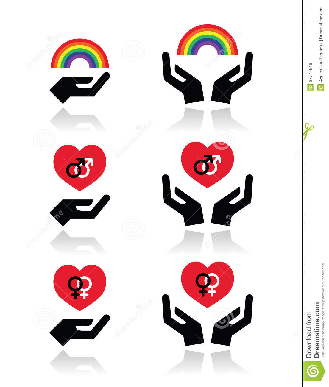 Rainbow gay and lesbian symbols in heart with hands stock rainbow gay and lesbian symbols in heart with hands buycottarizona