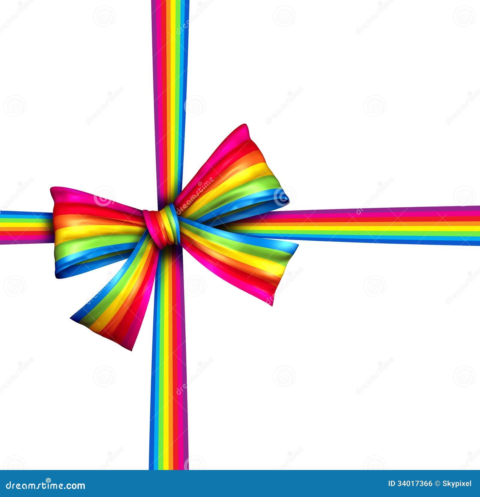 Rainbow Gift Ribbon Bow Royalty Free Stock Image Image