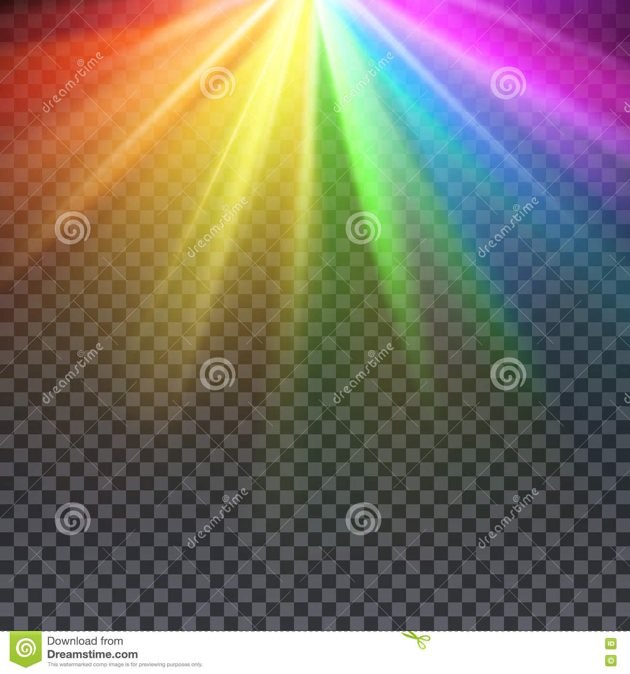 Rainbow glare spectrum with gay pride colors vector illustration