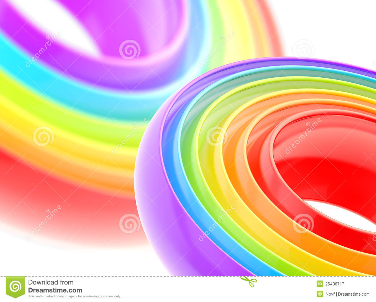 Rainbow glossy stripe abstract background