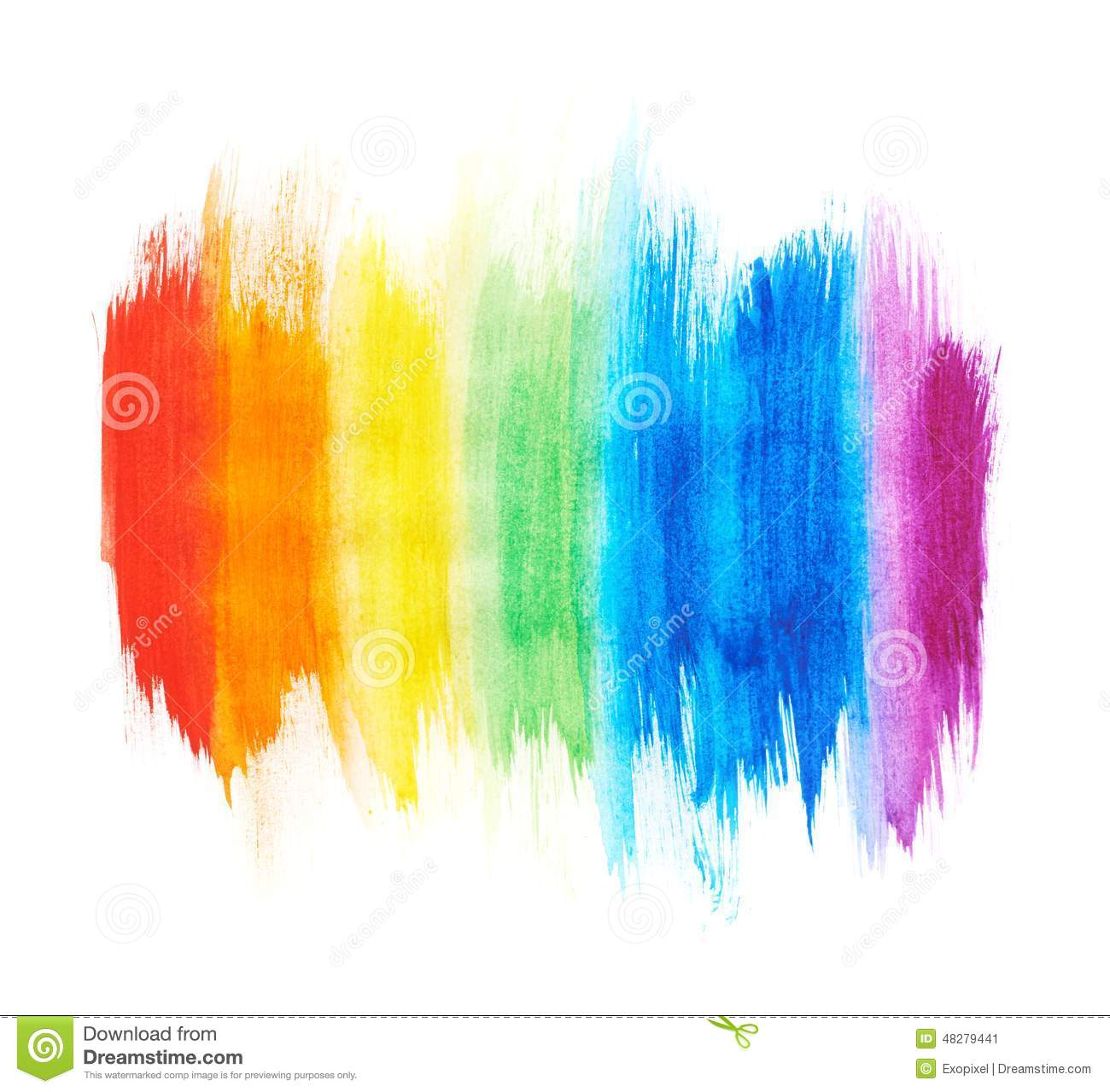 rainbow gradient made with paint strokes stock image
