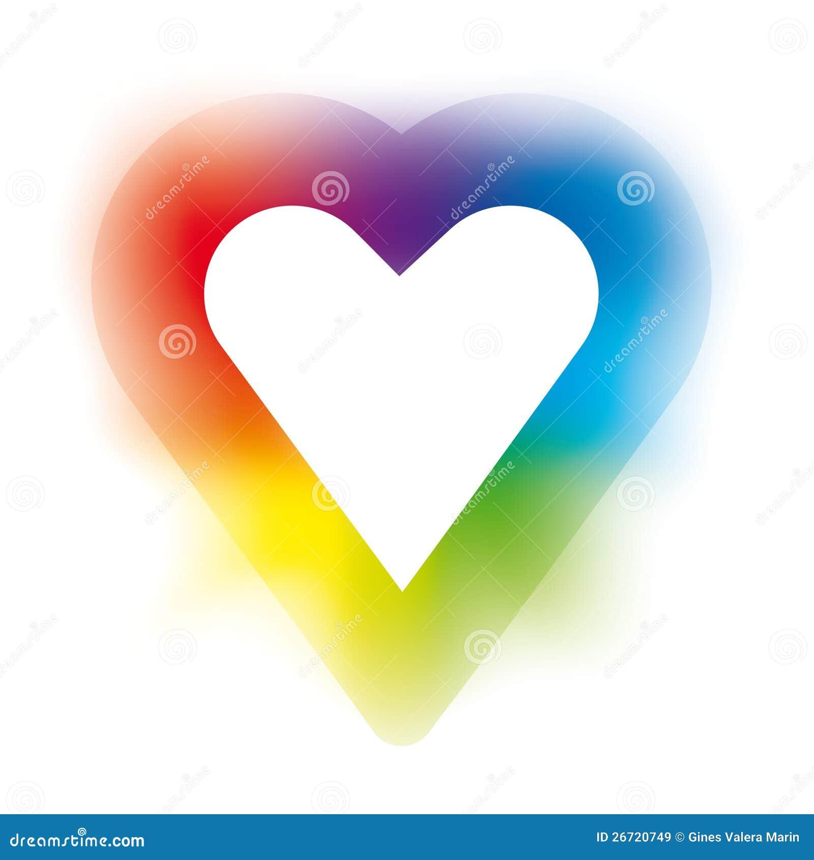 Rainbow Heart Stock Vector Illustration Of Green Symbol