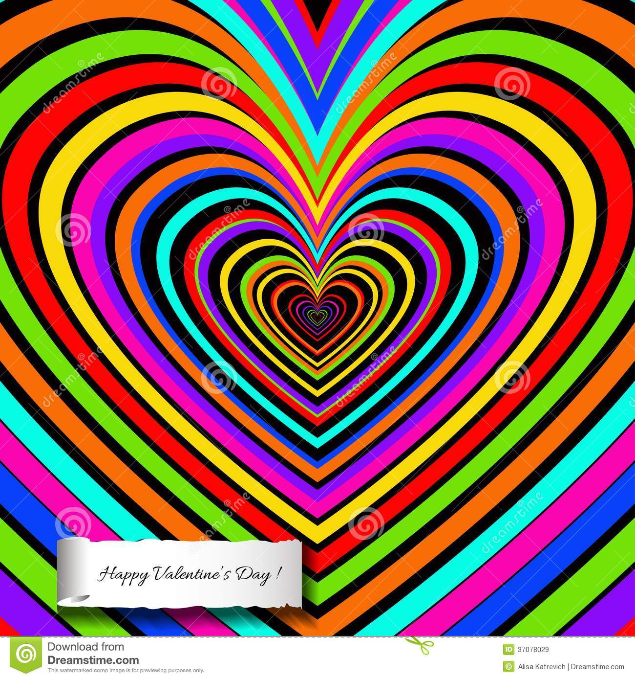 Rainbow heart background with decoration of love royalty for Background decoration images