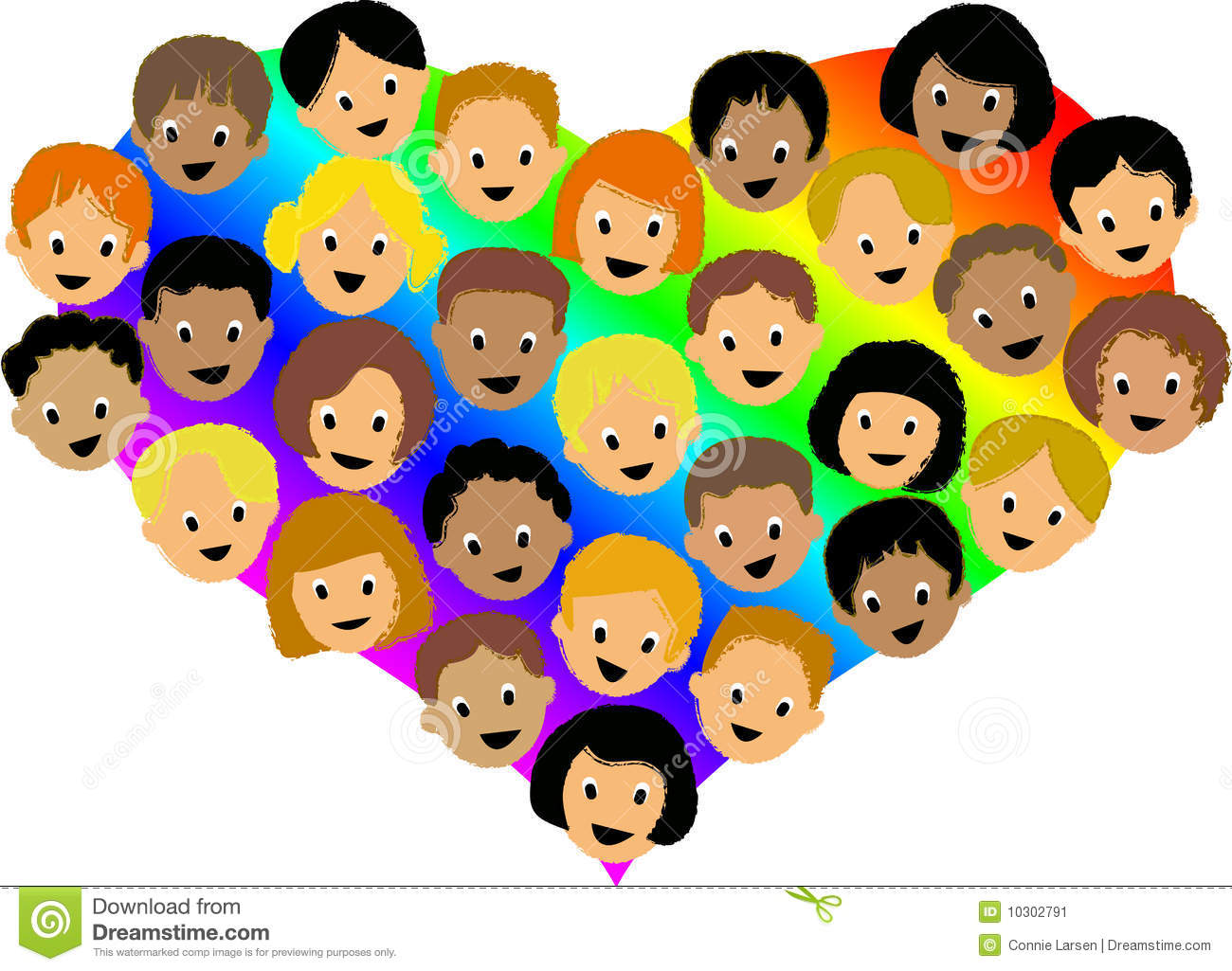 rainbow heart childrenai stock image - Pics Children