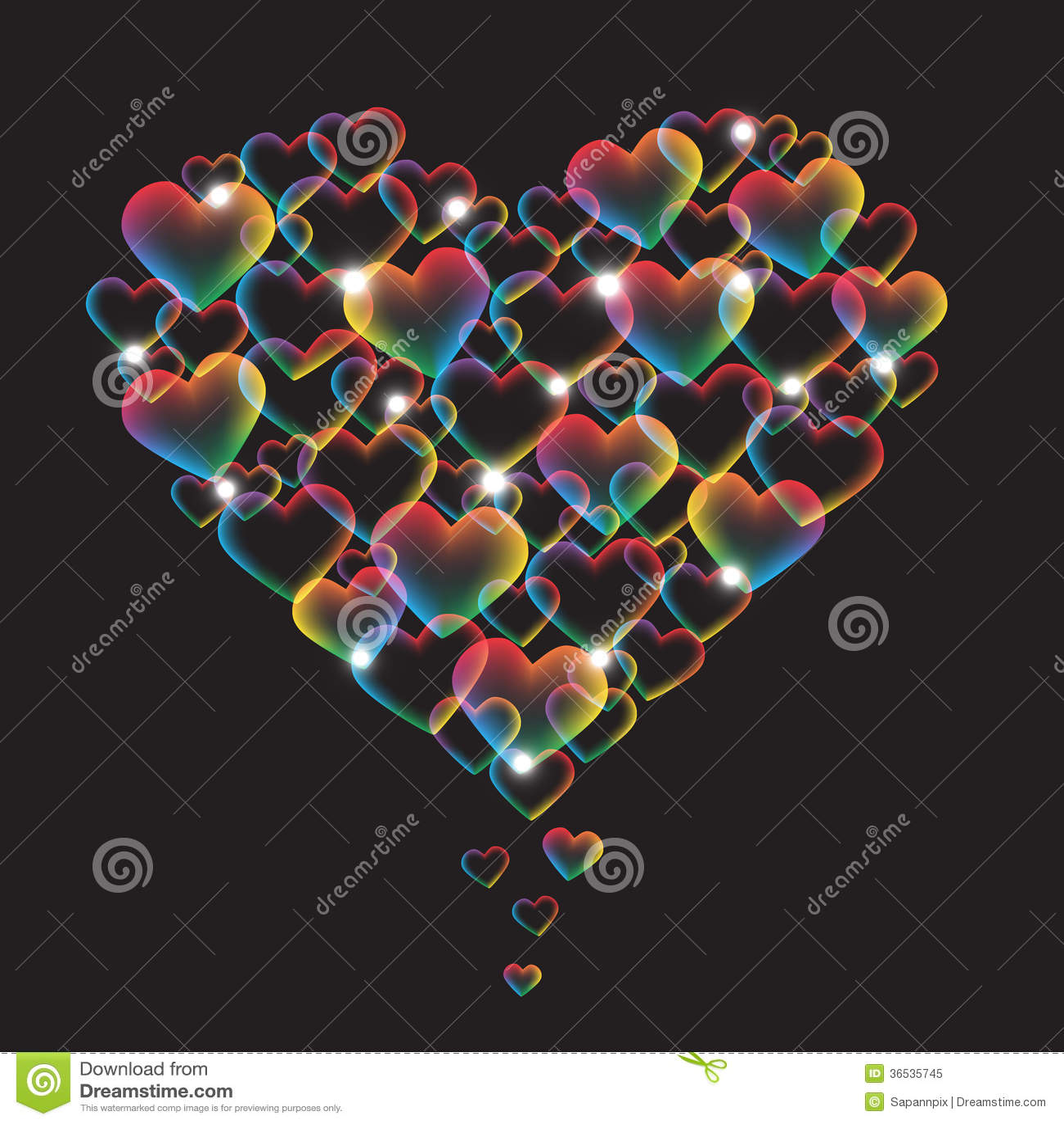 Rainbow Heart Stock Vector Image Of Card Illustration