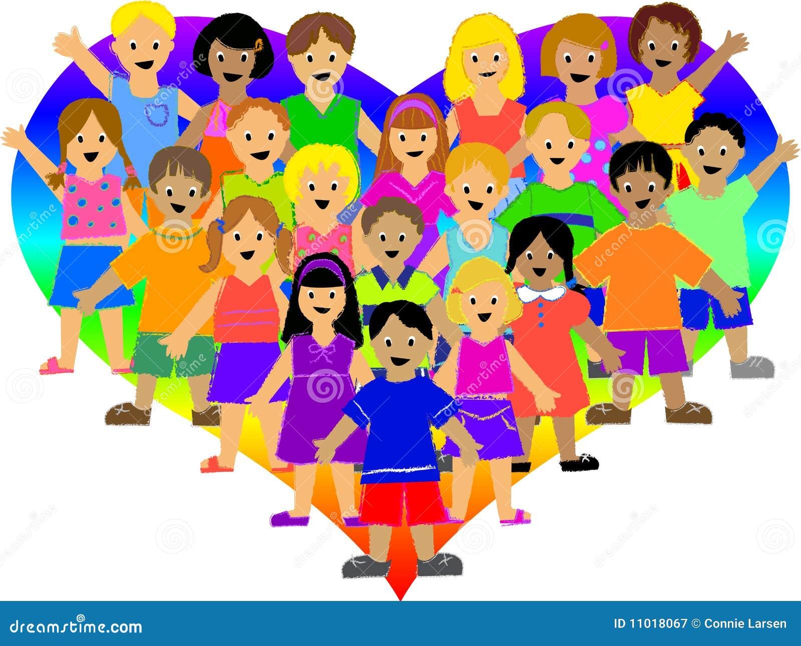 Rainbow Heart Kids/eps Royalty Free Stock Photography - Image ...
