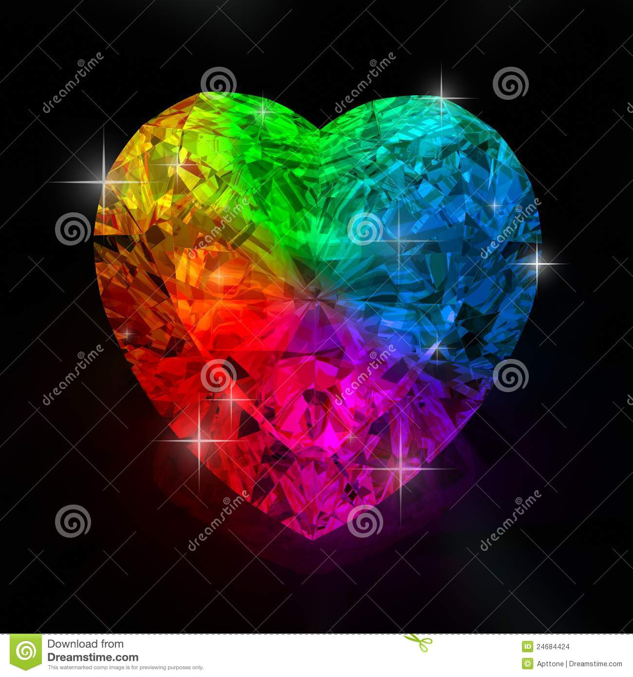 rainbow heart shape diamond beautiful shape emerald image