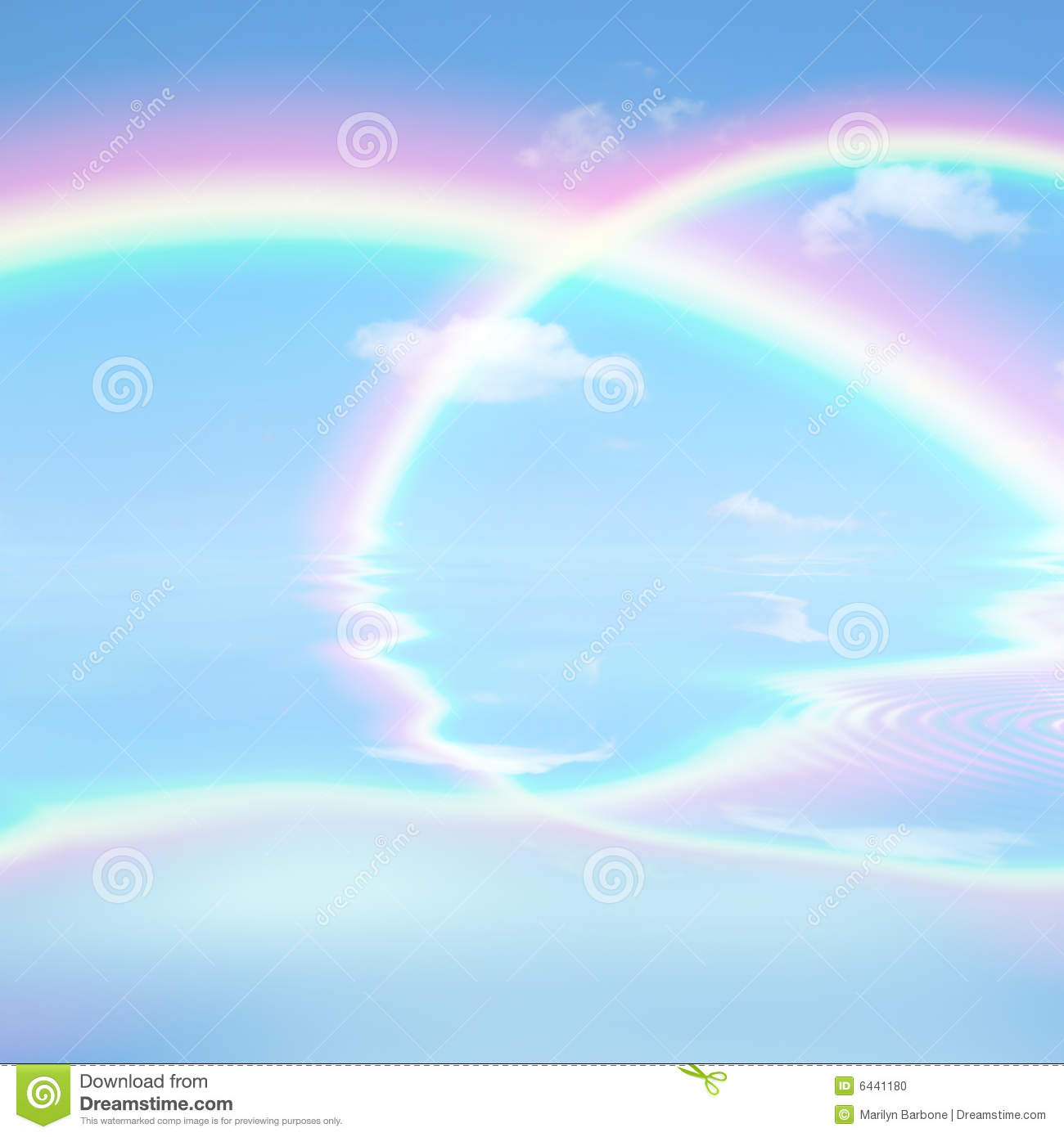 Rainbow Heaven Stock Photo Image Of Clear Blue