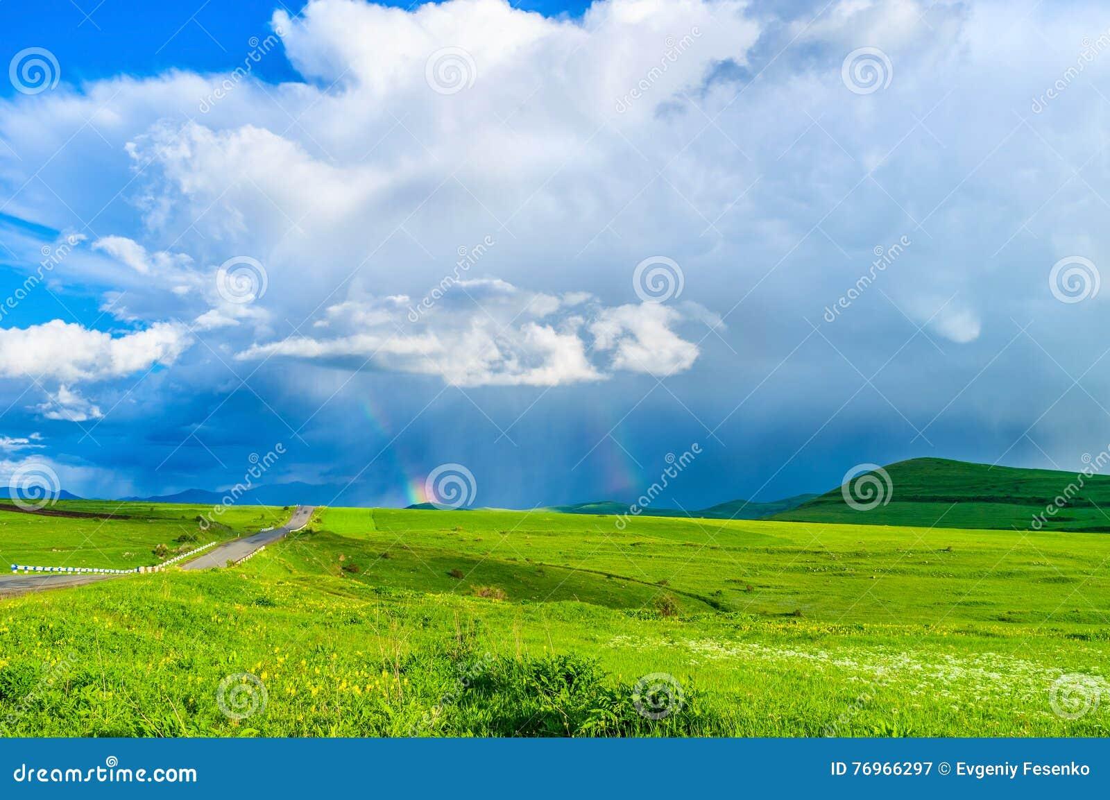 The rainbow in highland