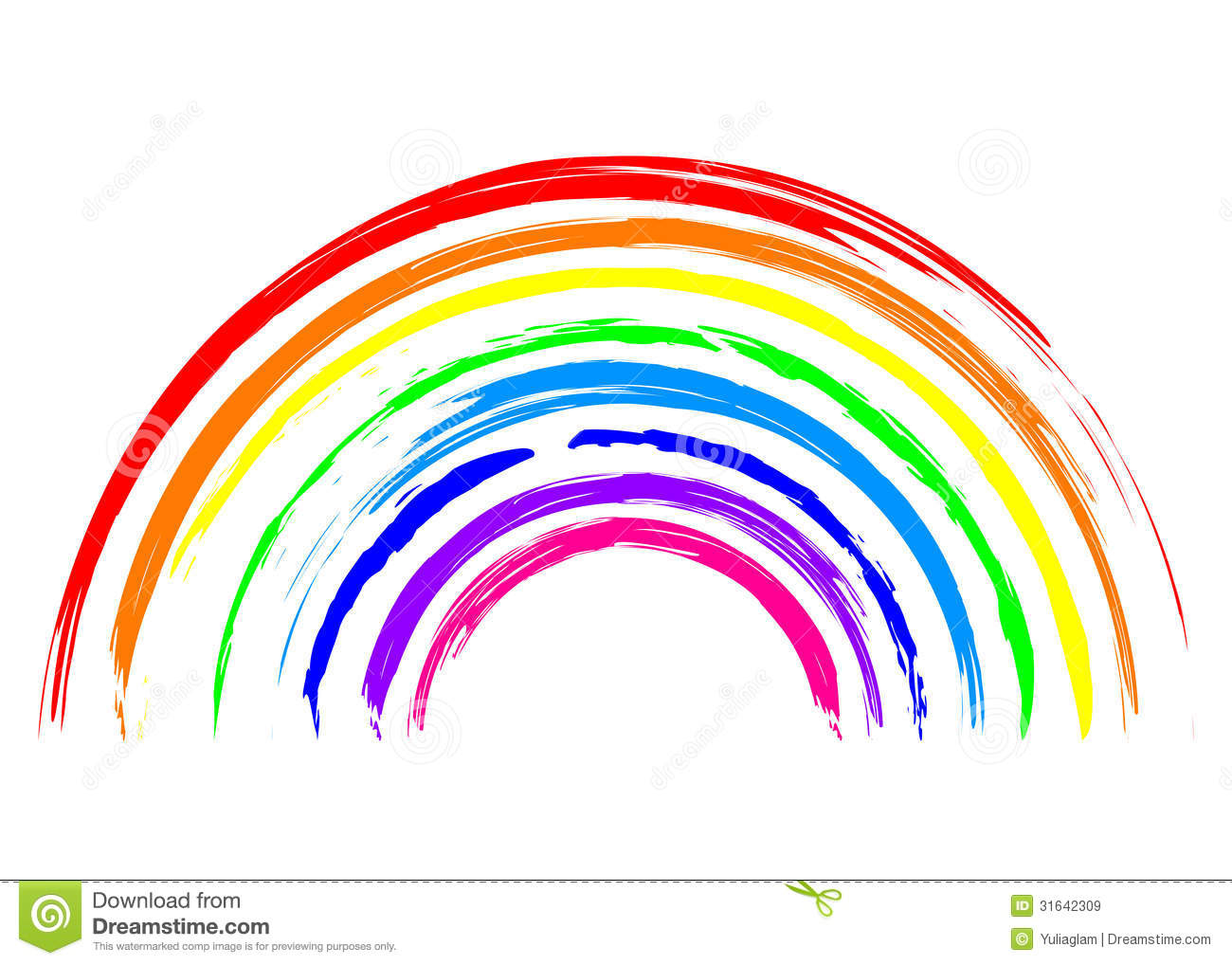 Rainbow Icon Stock Vector Illustration Of Multicolored