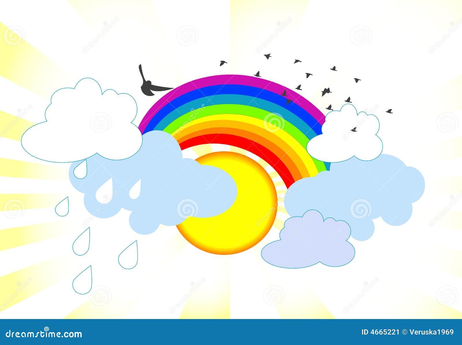 Rainbow illustration stock image image 4665221