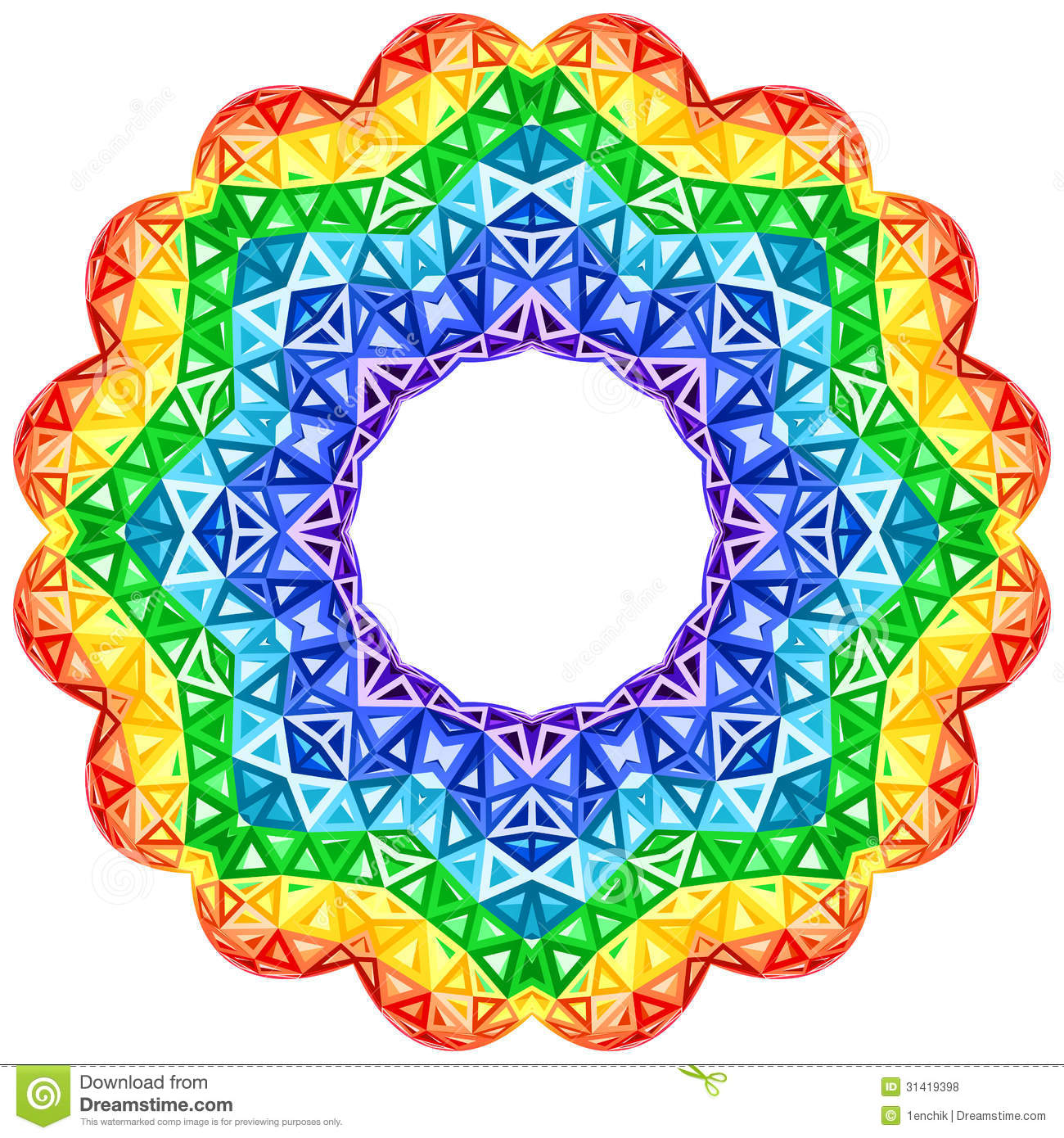 COlorful Kaleidoscope With Rainbow Spectrum In A Vortex Stock ...