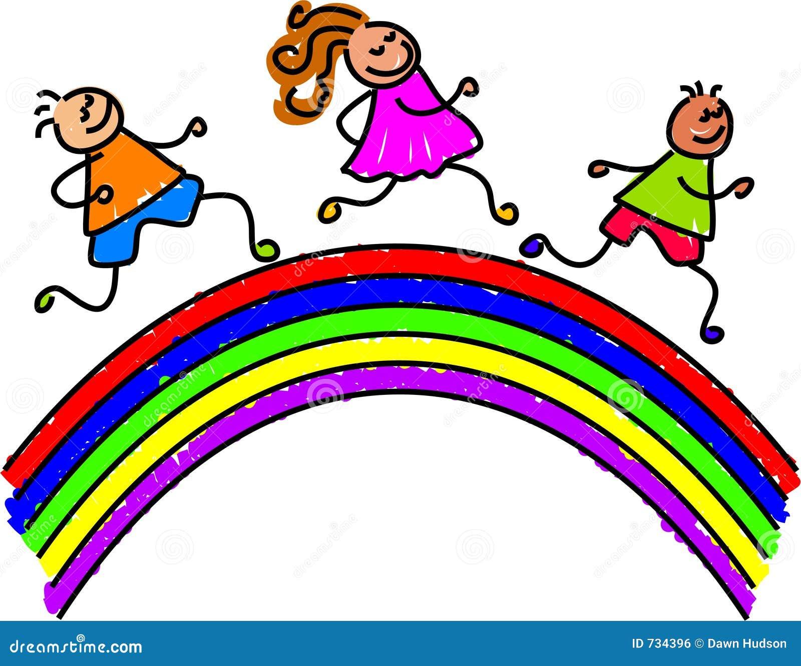 rainbow kids stock illustration illustration of community 734396 rh dreamstime com