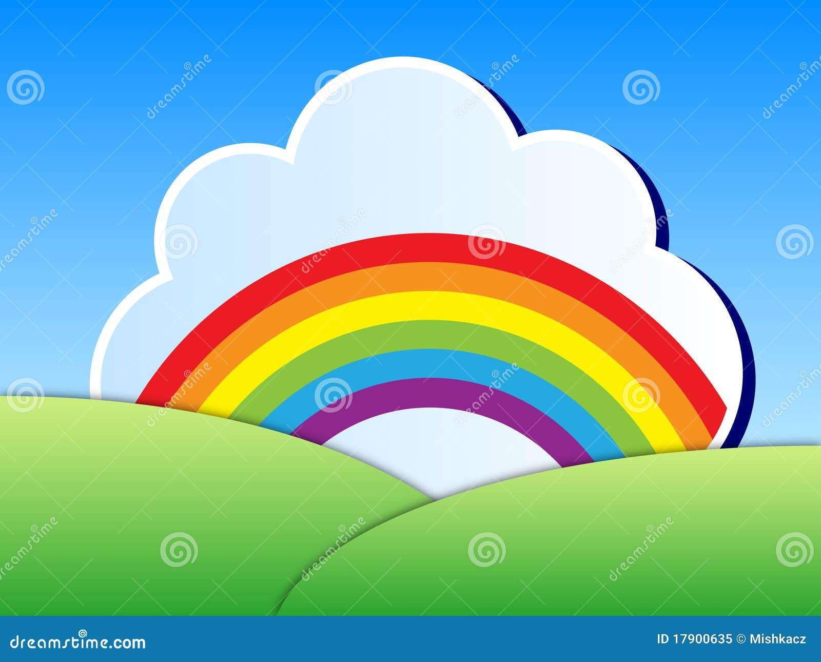Rainbow Landscape Stock Vector Illustration Of Blue 17900635
