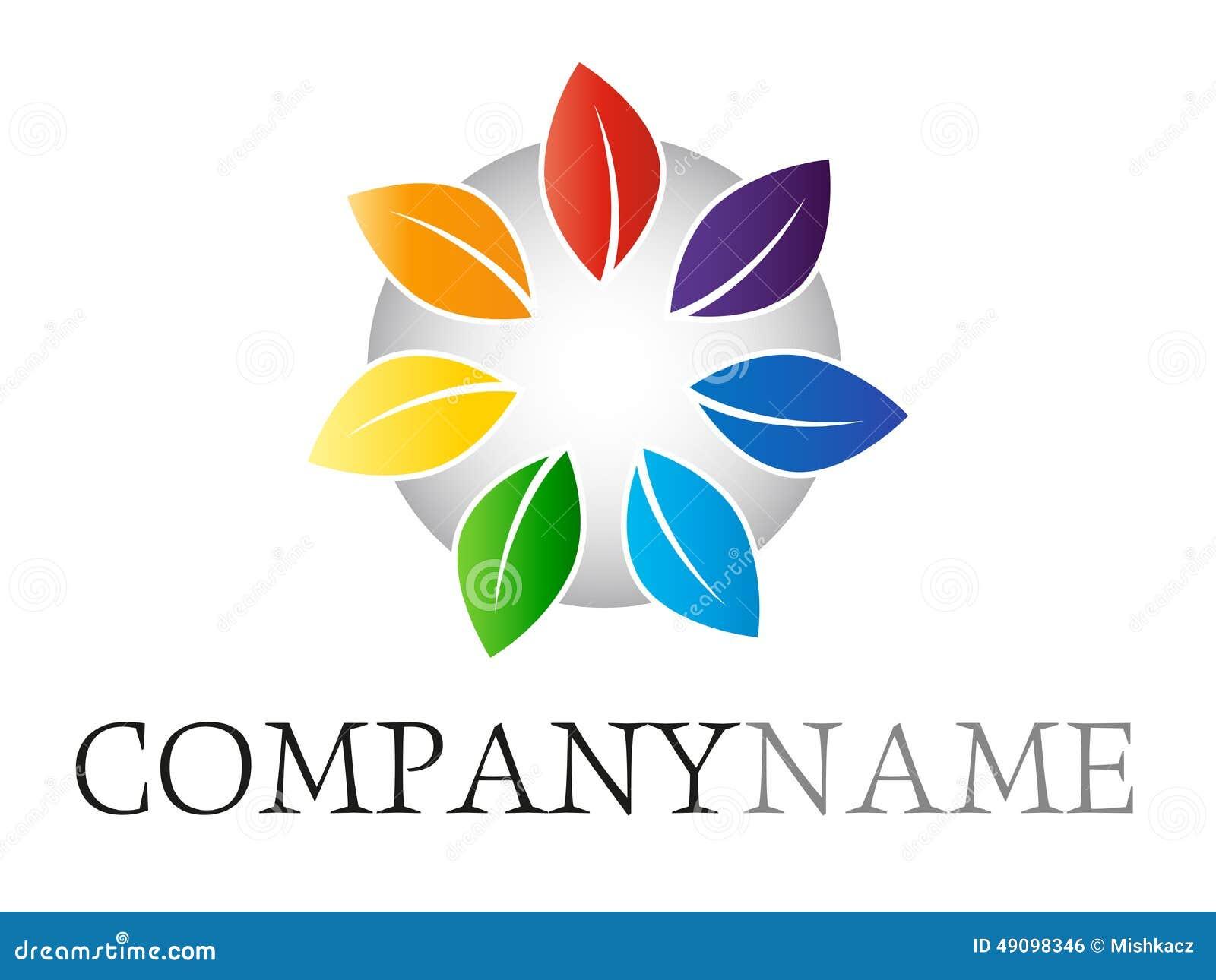 Rainbow leaf logo