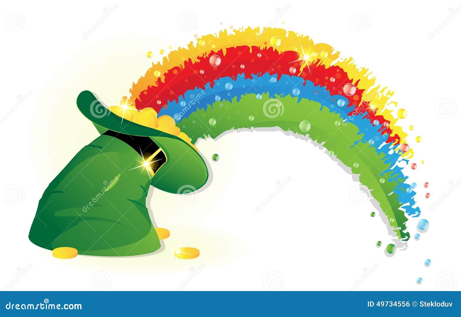 Uncategorized Leprechauns And Rainbows rainbow and leprechaun hat stock vector image 49734556 royalty free download leprechaun