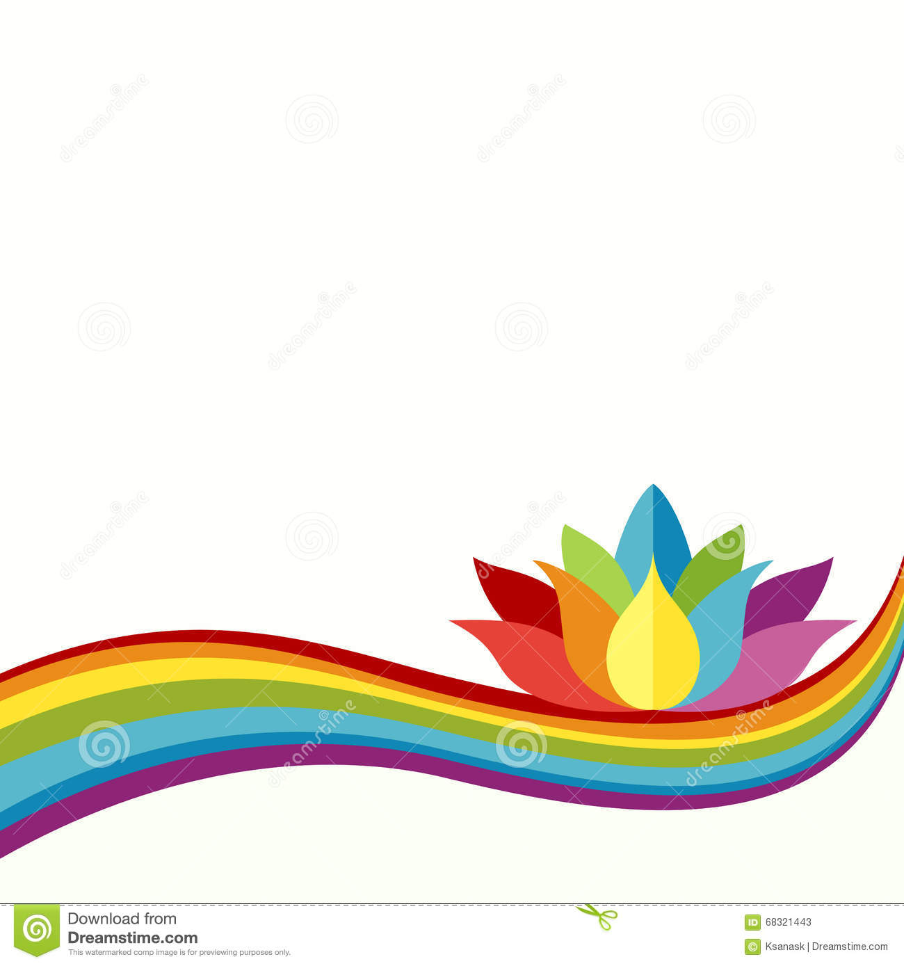 rainbow lotus background stock vector illustration of celebration