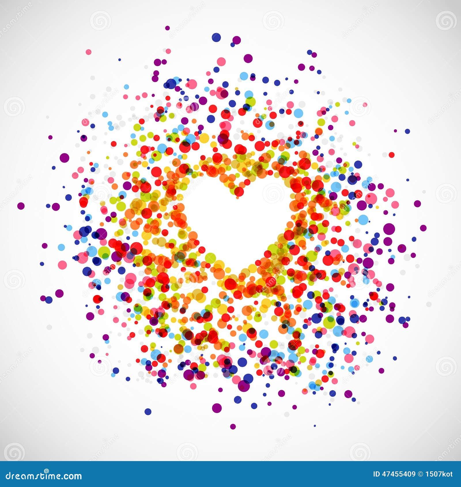 Rainbow Love Background Stock Illustration Image 47455409