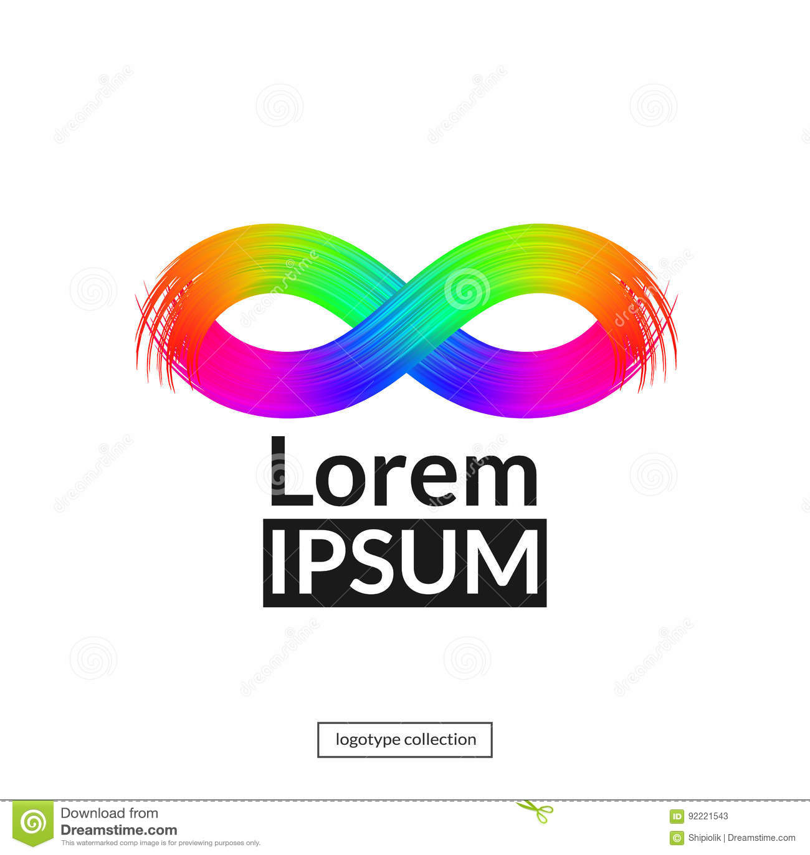 Rainbow Mask Logo Template Stock Vector Illustration Of Isolated
