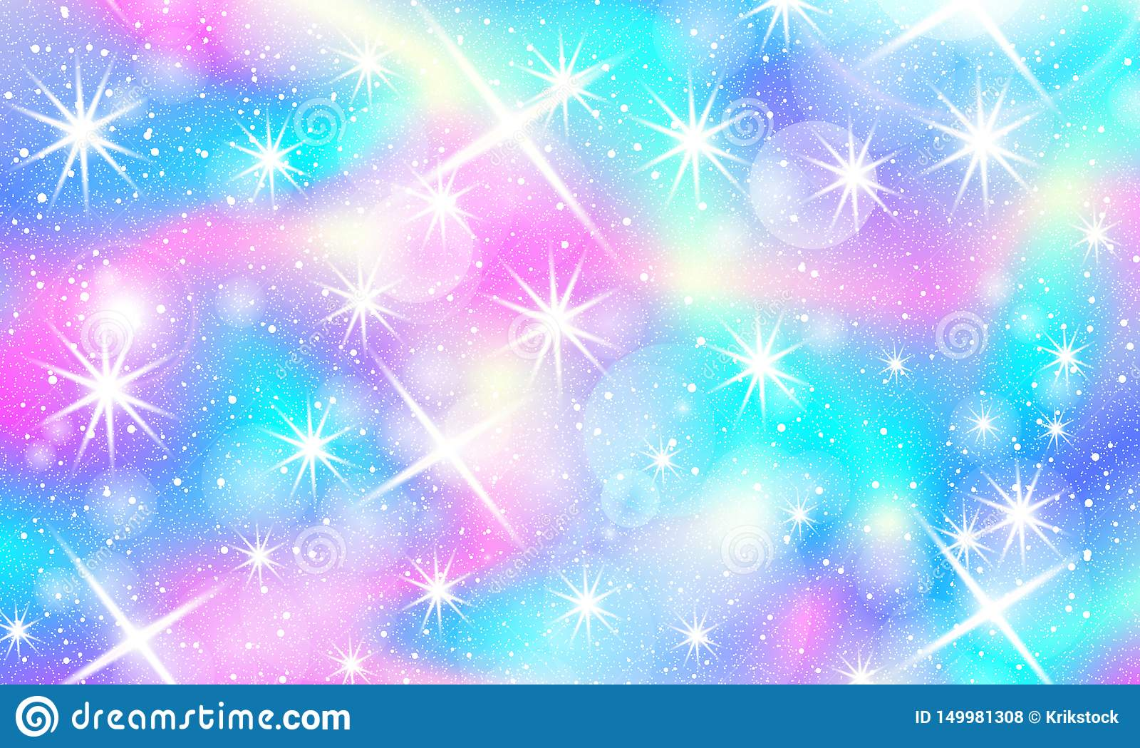 Rainbow Mermaid Background Unicorn Pattern Stock Vector Illustration Of Colorful Kawaii 149981308