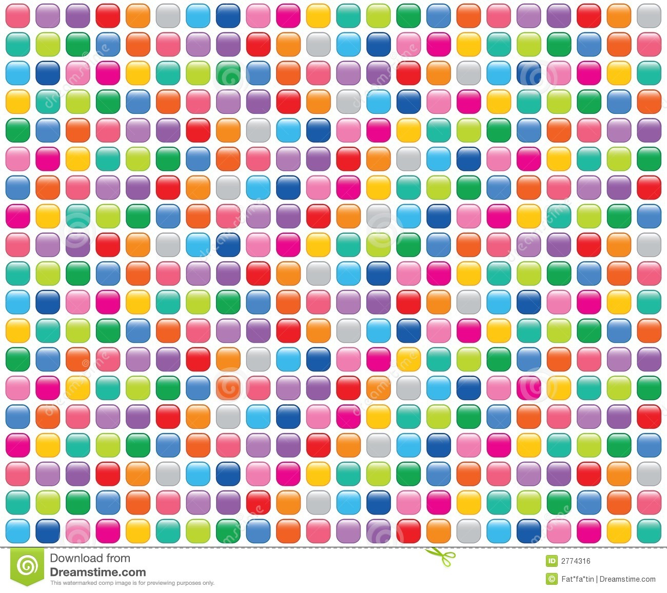 Rainbow mosaic buttons white royalty free stock image image 2774316 - Mosaico de colores ...