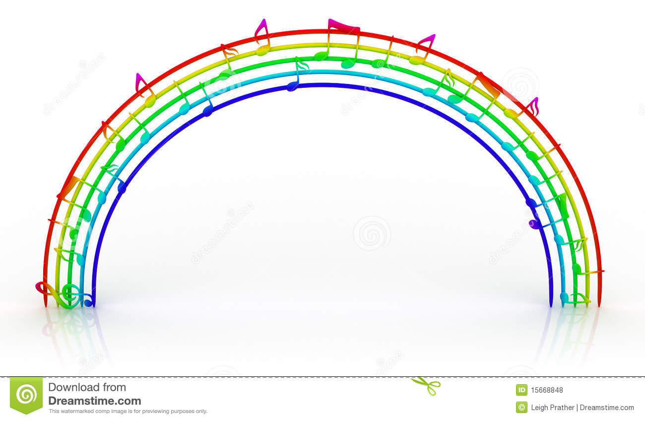 Rainbow Music Stock Images: Rainbow Of Music Royalty Free Stock Photos