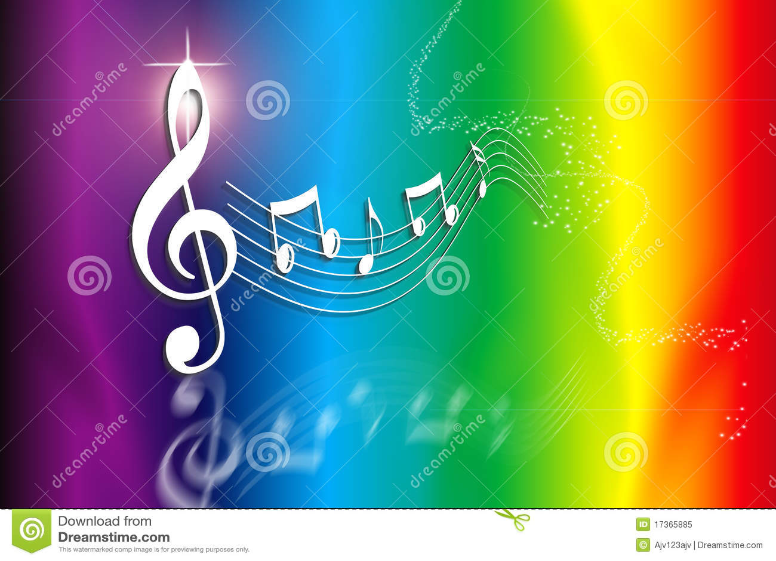 Rainbow Music Royalty Free Stock Photo