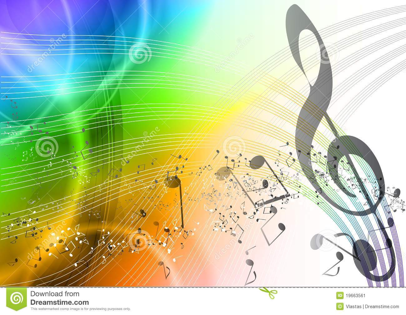 Rainbow Music Stock Images: Rainbow Music Stock Vector. Illustration Of Happy