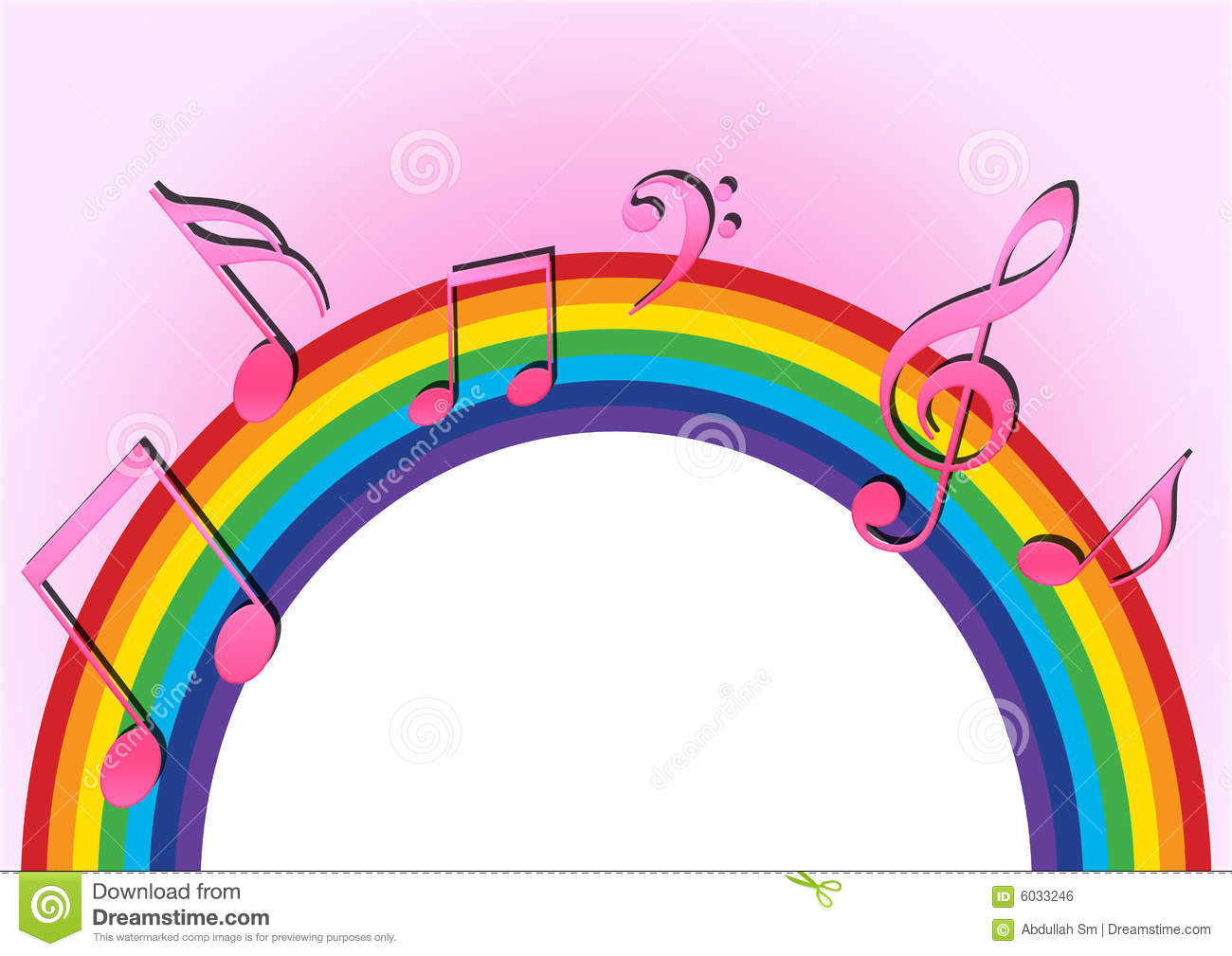 Rainbow Notes On Light Background Stock: Rainbow Music Stock Illustration. Illustration Of Creative