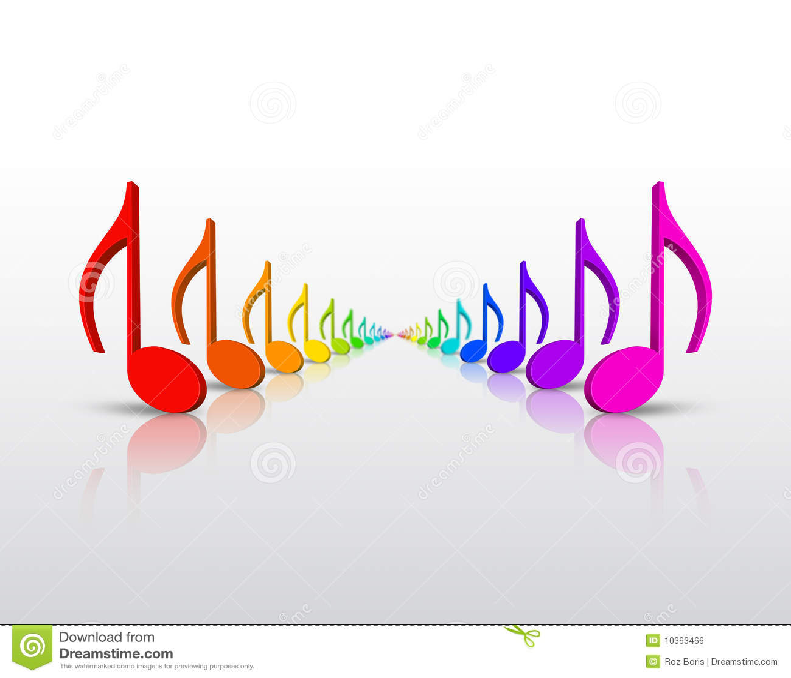 Rainbow Music Notes Royalty Free Stock Image - Image: 10363466