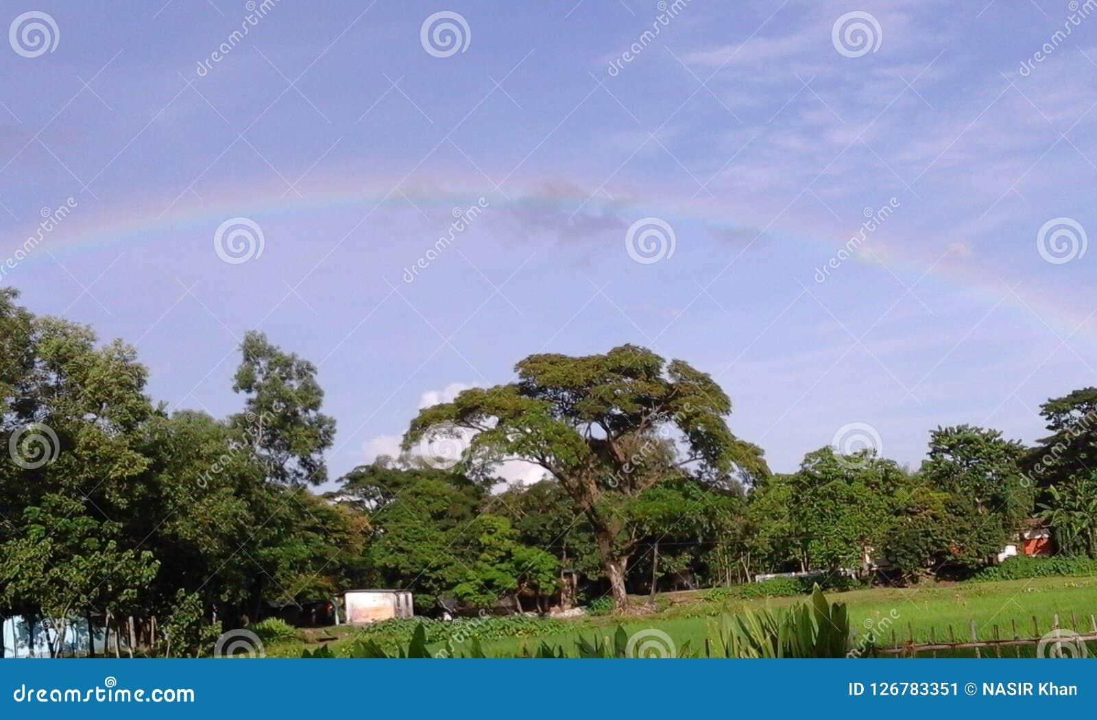 Rainbow stock image  Image of sorot, natural, rainbow