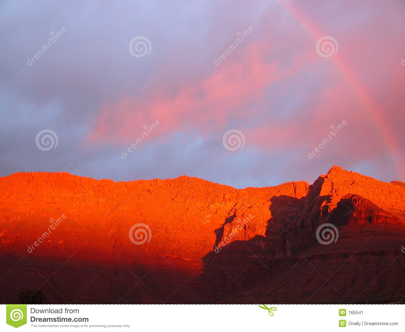 Rainbow over Red Mountain