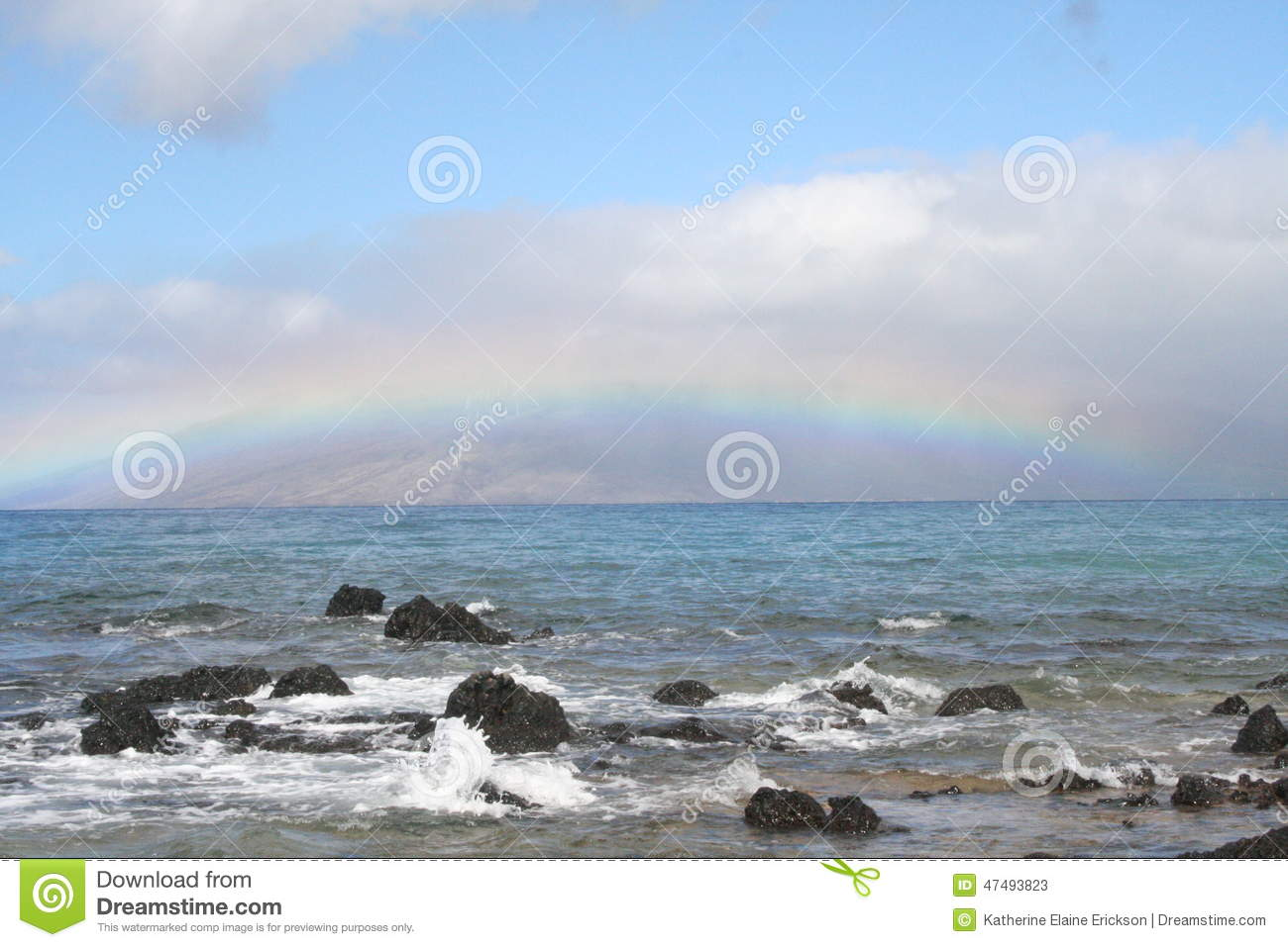 rainbow over rocks stock image image of outdoors background 47493823