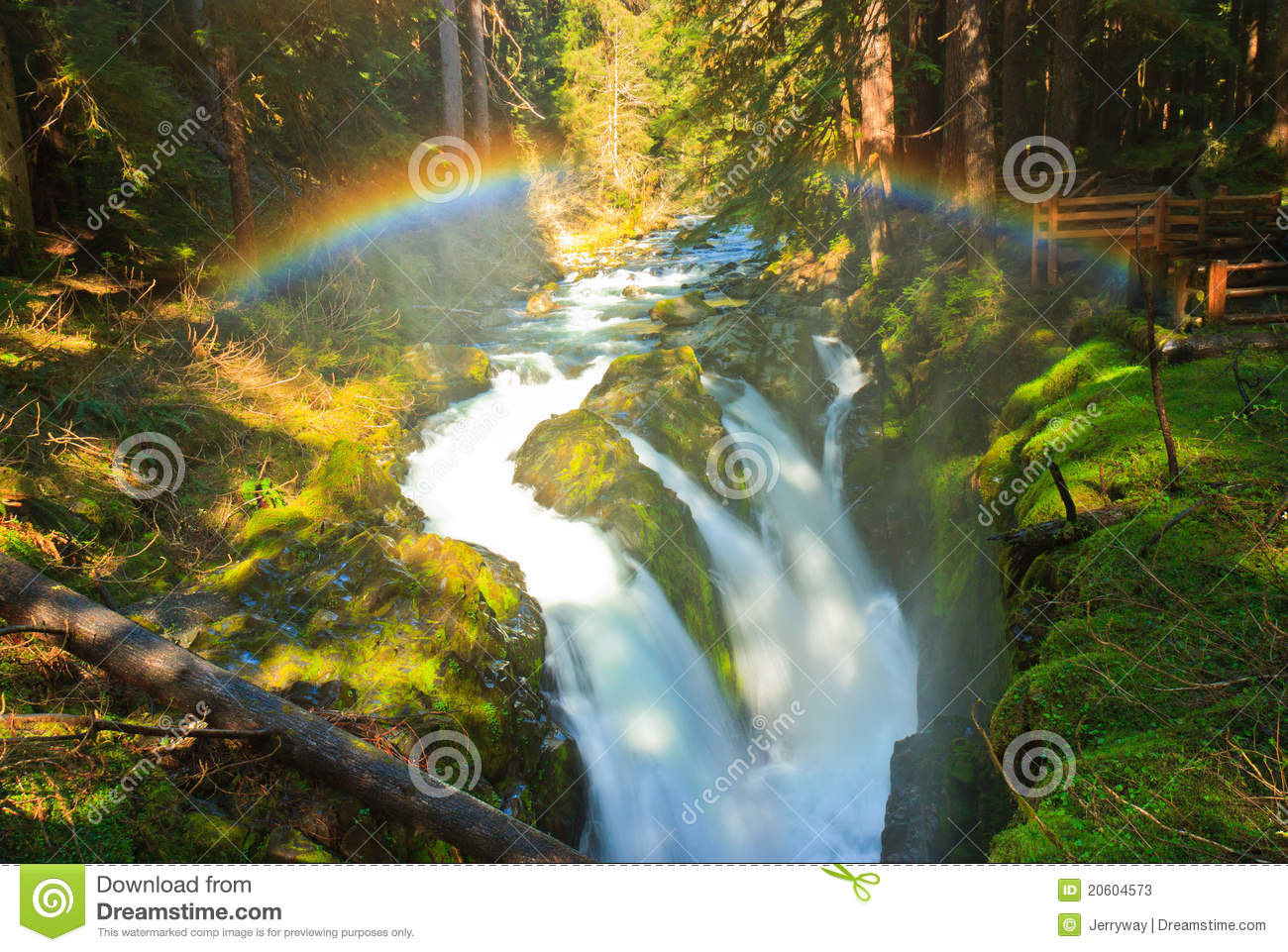 Rainbow Over Sol Duc Falls, Olympic National Park Stock Photos - Image ...