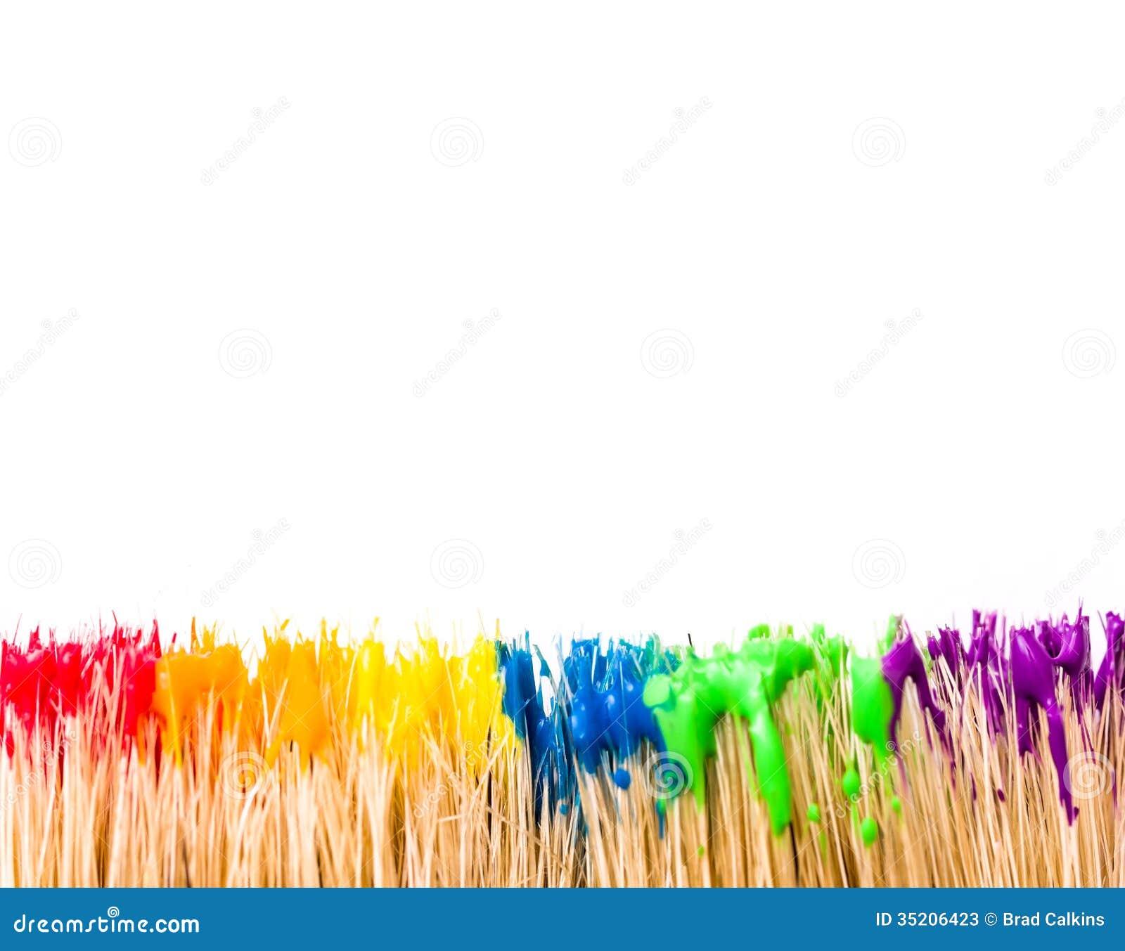 Rainbow Paint Background Stock Image Image Of Background