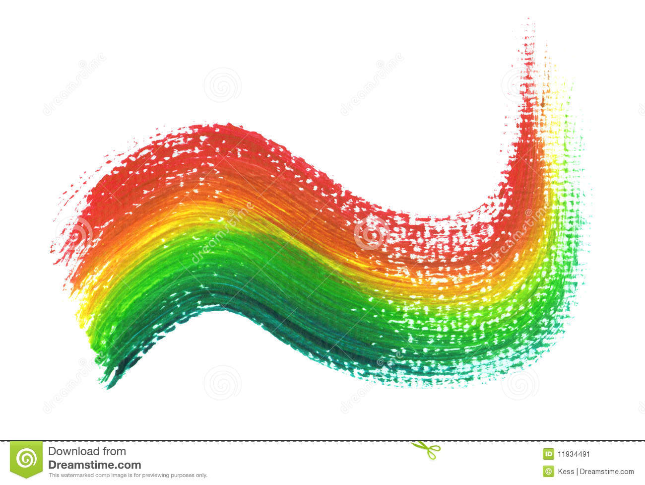 Rainbow Paint Brush Stock Image - Image: 11934491