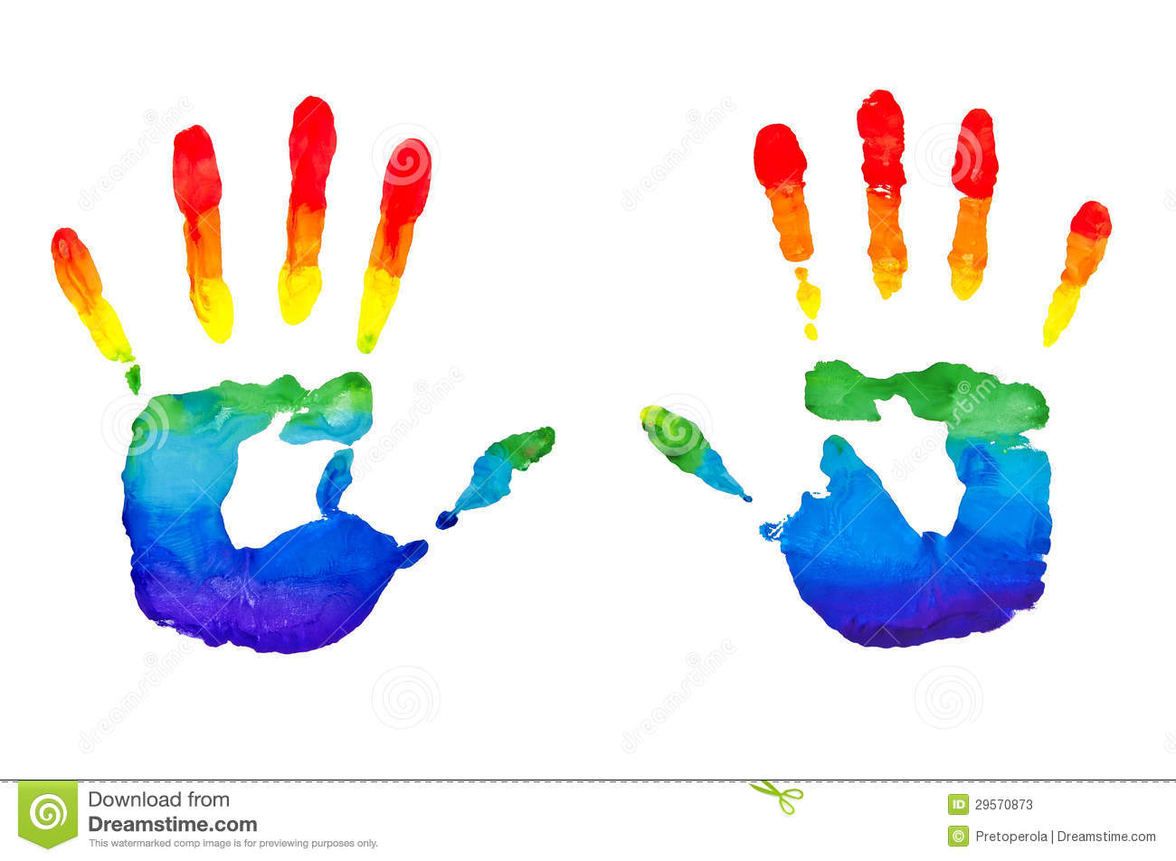 rainbow painted hands stock photos image 29570873 Lady Silhouette Clip Art Silhouette Clip Art Blank Umberella