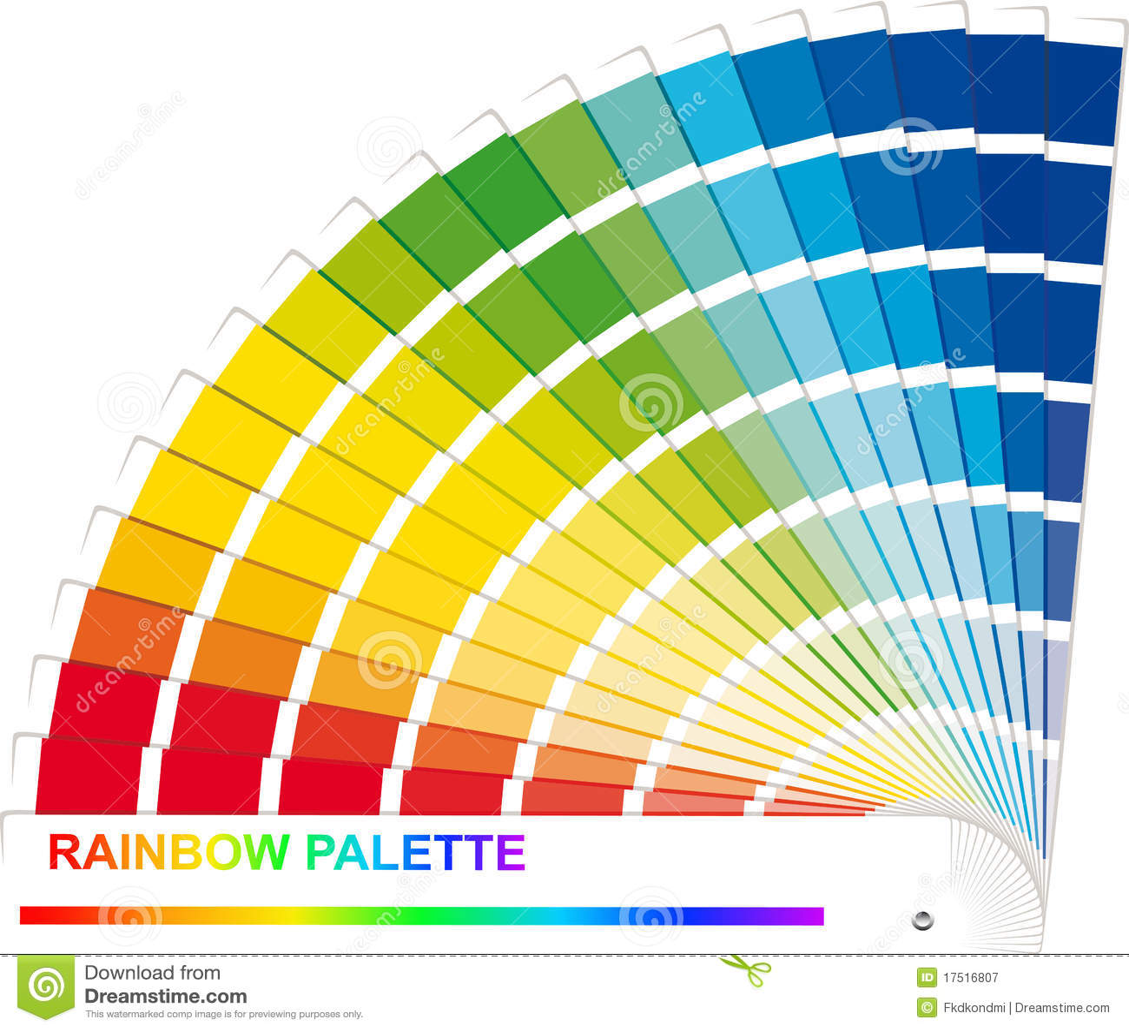 Rainbow palette stock vector illustration of illustration - Gama de colores rosas ...