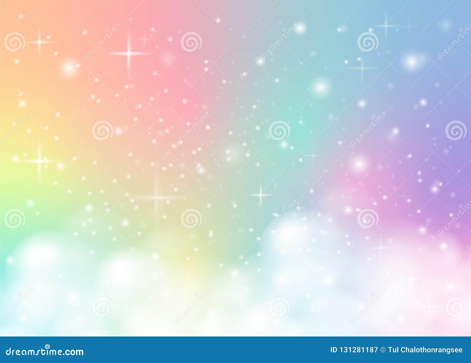 Rainbow pastel background stock vector. Illustration of ...