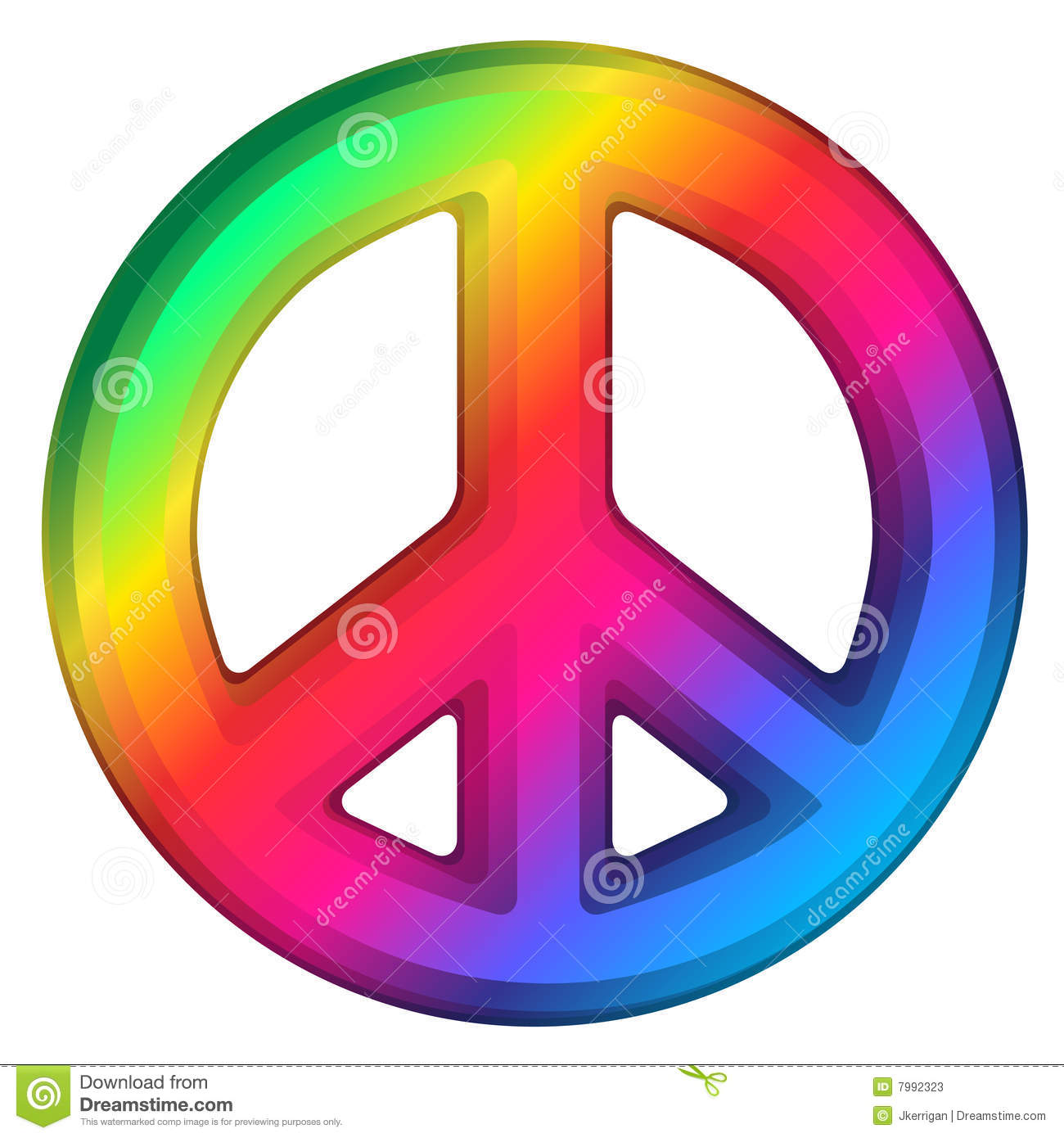 Rainbow Peace Sign Stock Photos - Image: 7992323
