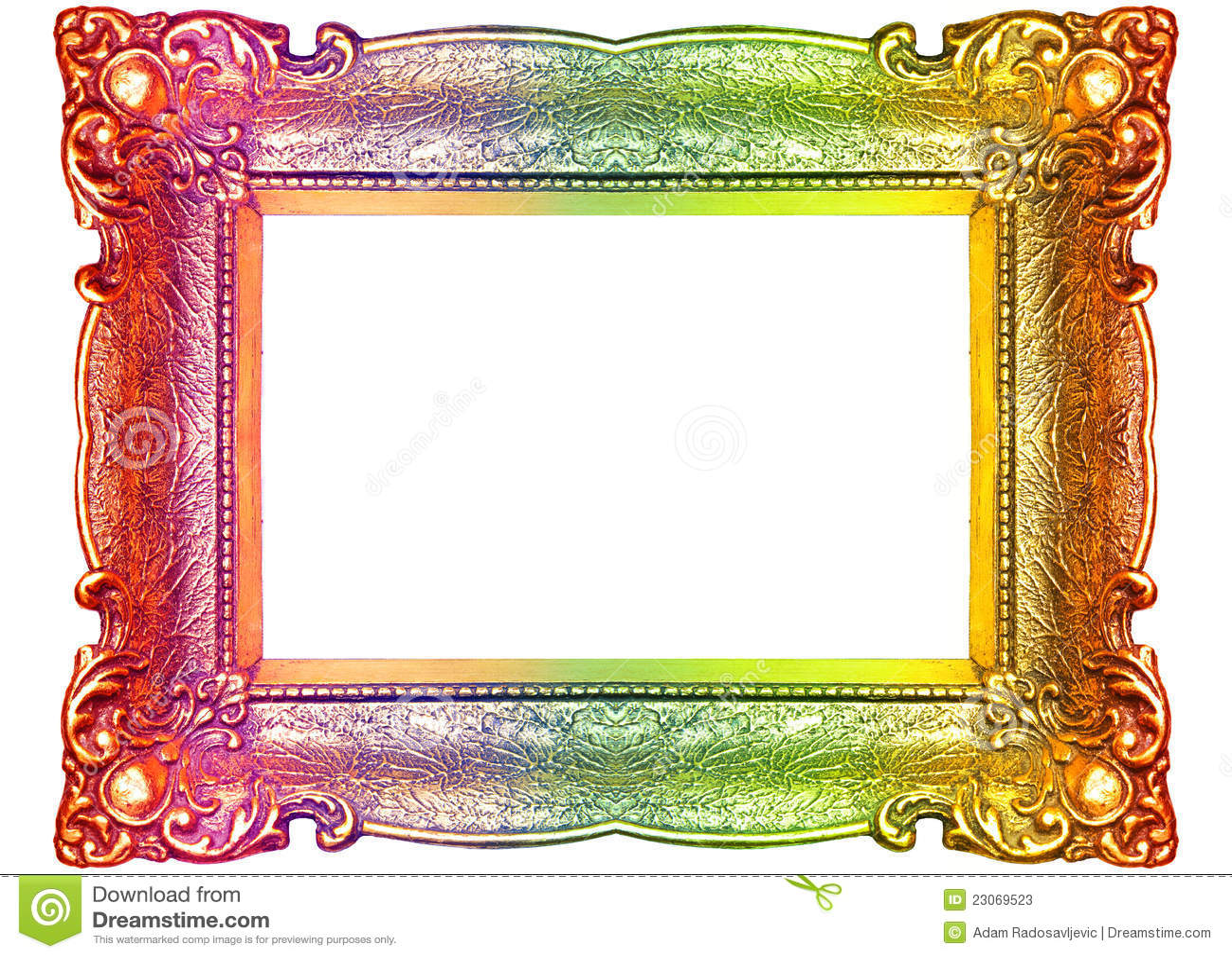 Rainbow Picture Frame Stock Image Image Of Elemen