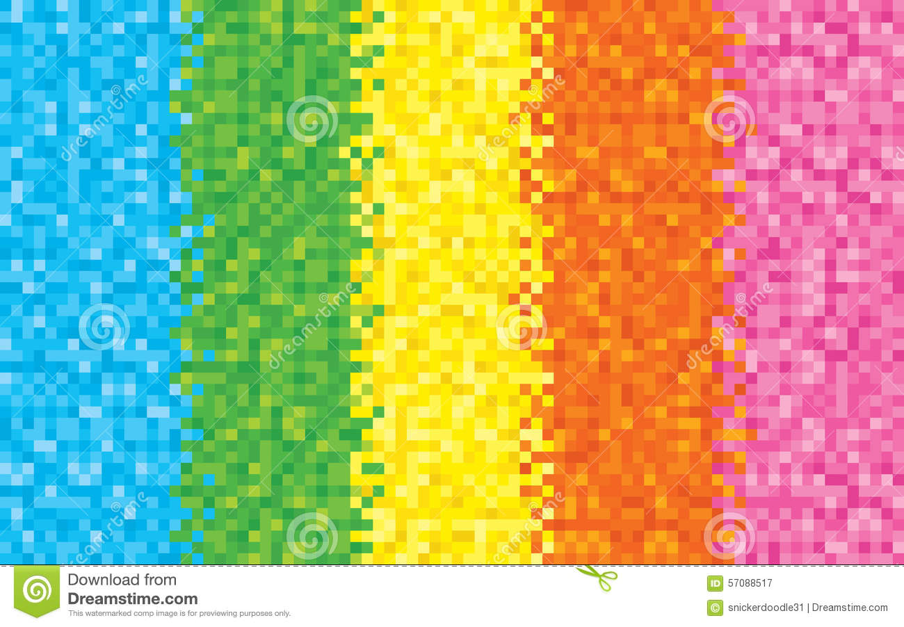 Rainbow Pixel Background Stock Vector Image 57088517
