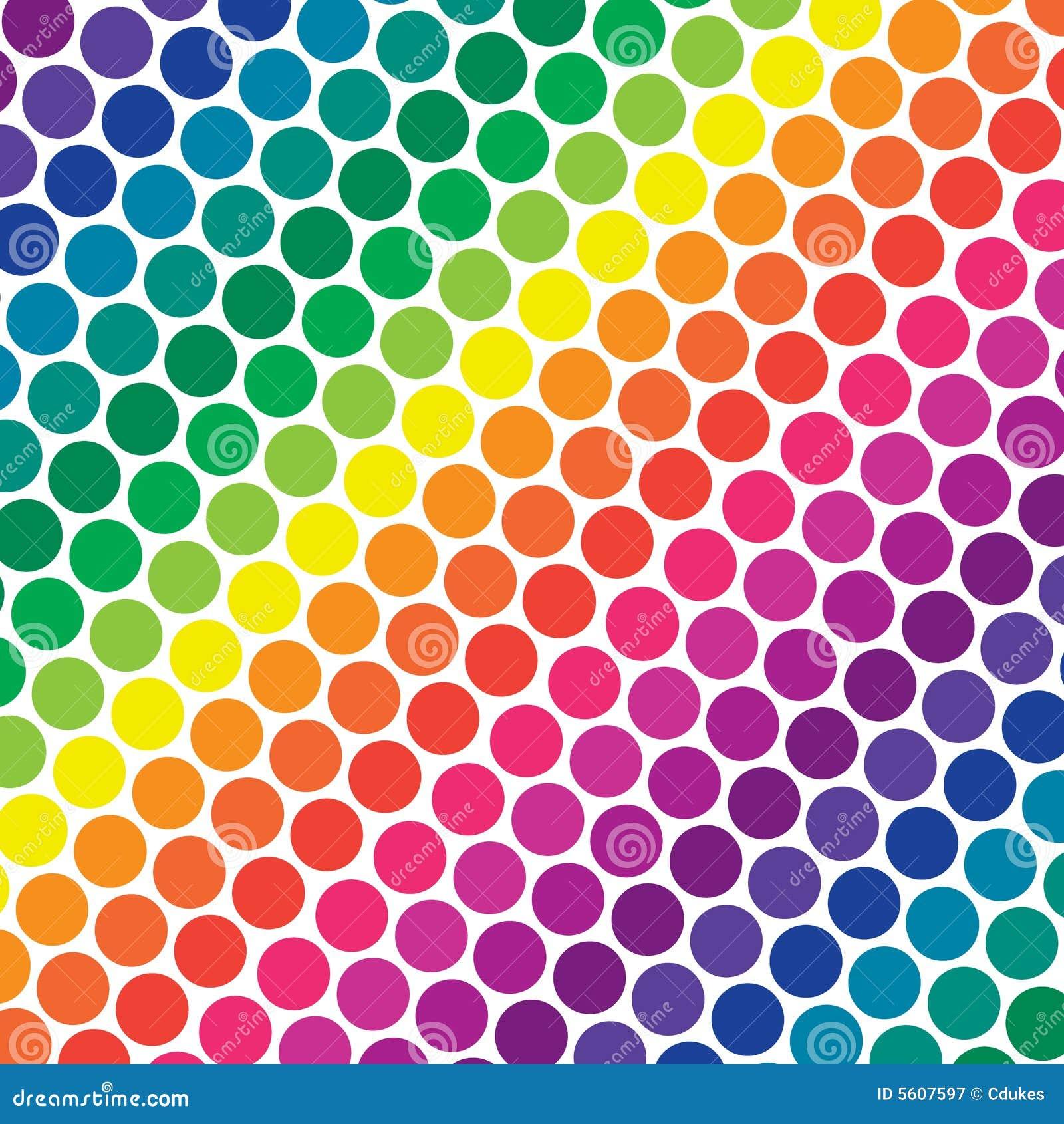 Rainbow Dots Border