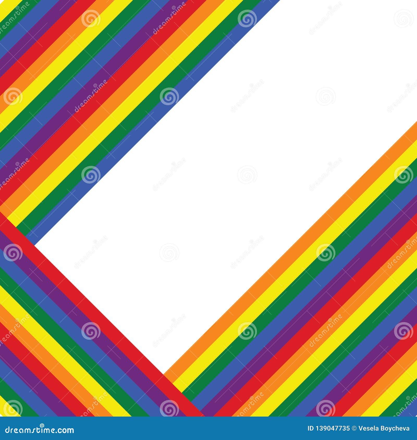 Rainbow Pride Wallpaper Background Valentines Pattern