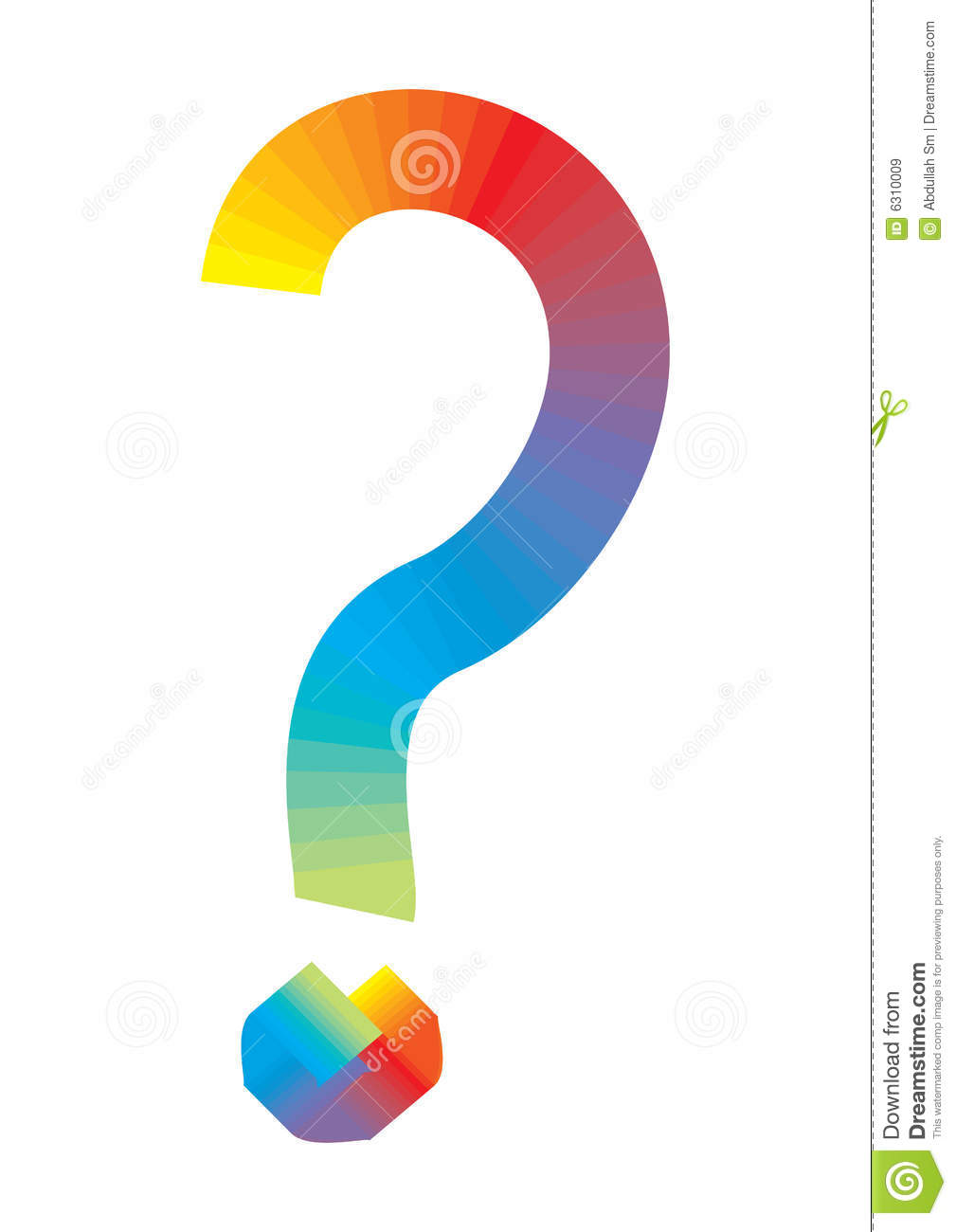 rainbow question mark vector royalty free stock images image